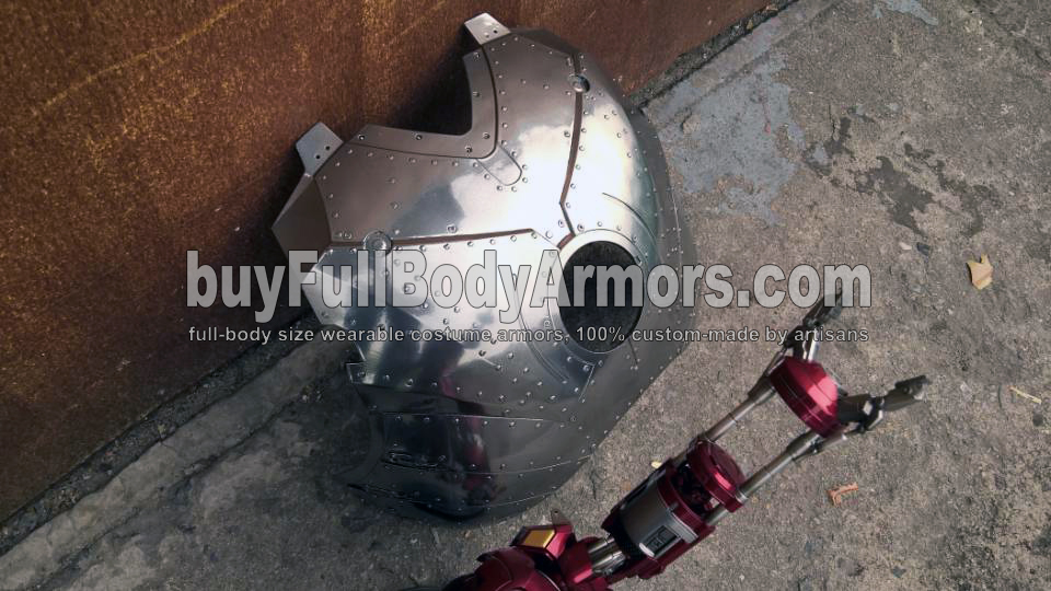 The Mirror Chrome Silver Painting of the Iron Man Suit Mark II (2) Chest Armor