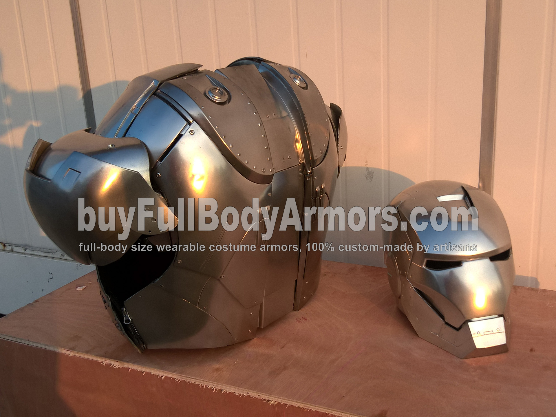 Wearable Iron Man Suit Mark II (2) Armor Costume Prototype - Helmet & Chest back