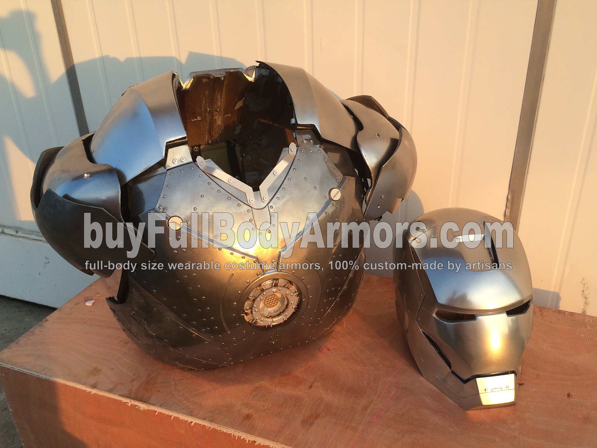 Wearable Iron Man Suit Mark II (2) Armor Costume Prototype - Helmet & Chest front