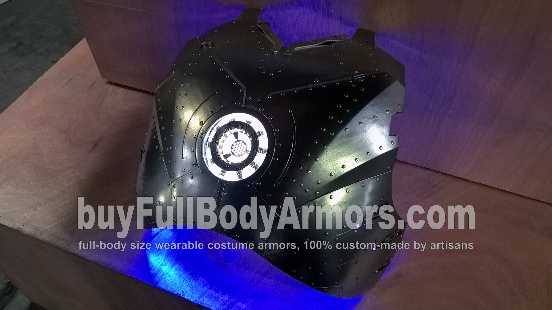 Second Layer of the Chrome Silver Painting of the Wearable Iron Man Suit Mark II (2) Chest Armor Prototype - To Be Polished 2