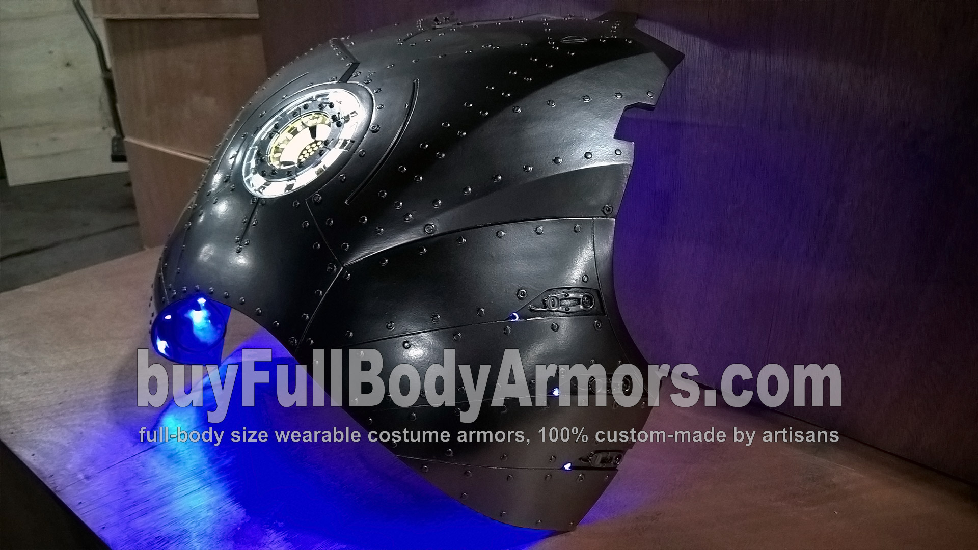 Second Layer of the Chrome Silver Painting of the Wearable Iron Man Suit Mark II (2) Chest Armor Prototype - To Be Polished 3