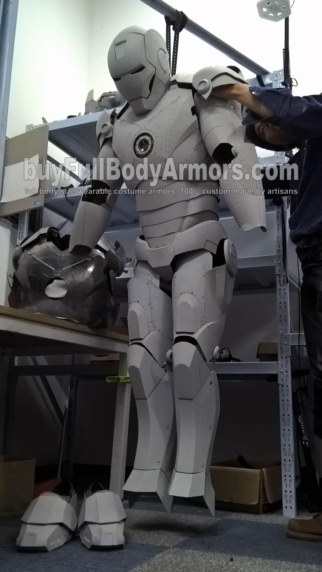 Malen Sie die Echter Iron Man Mark II anzug original Ganzkörper kostüm Replik, wie Sie es wünschen 1