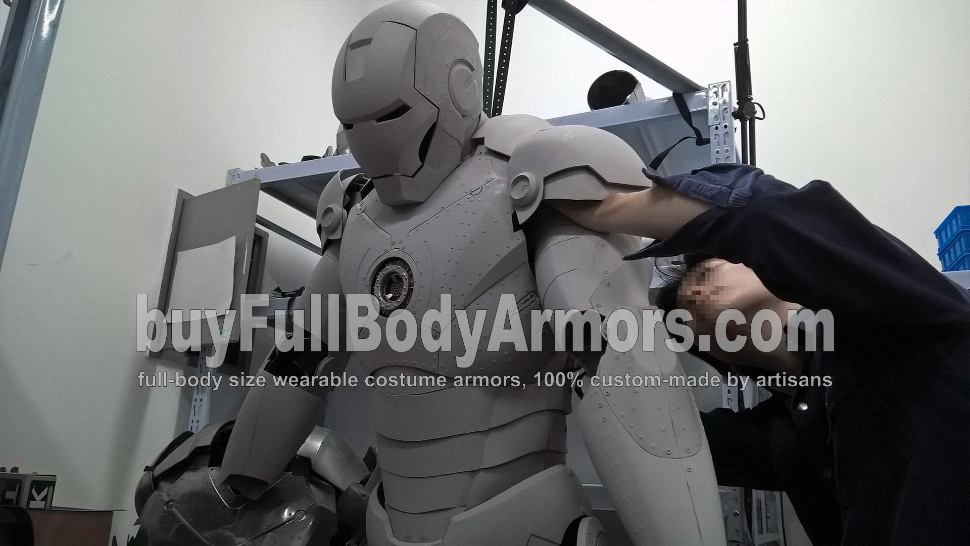 Malen Sie die Echter Iron Man Mark II anzug original Ganzkörper kostüm Replik, wie Sie es wünschen 2