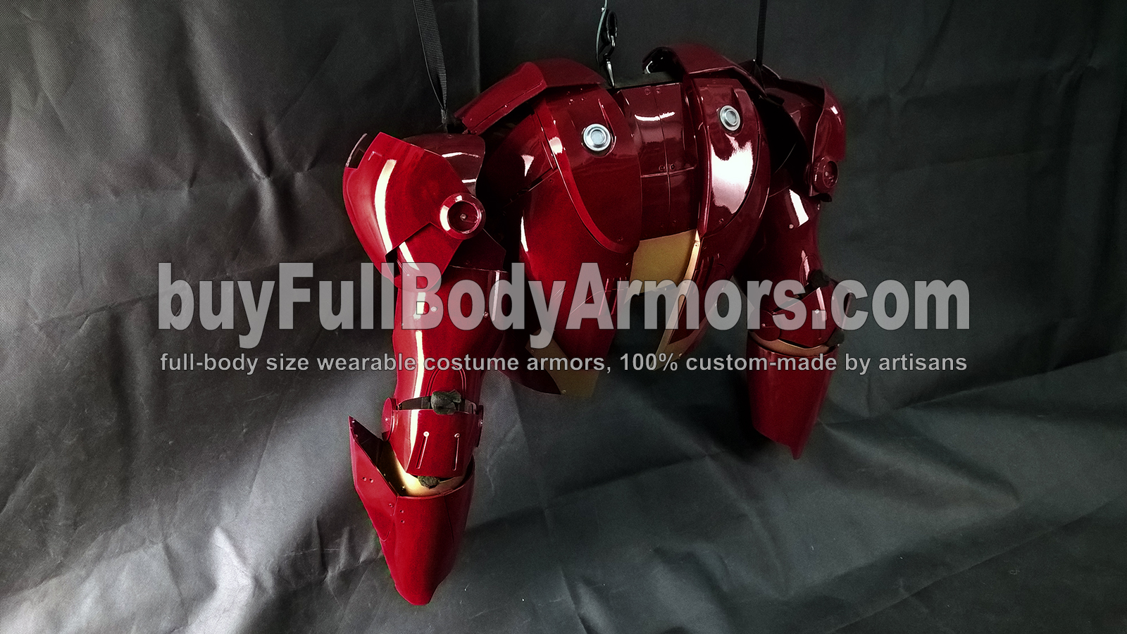 The Wearable Iron Man Suit Mark 3 III Armor Costume - Back, Shoulder Caps, Arms Prototype