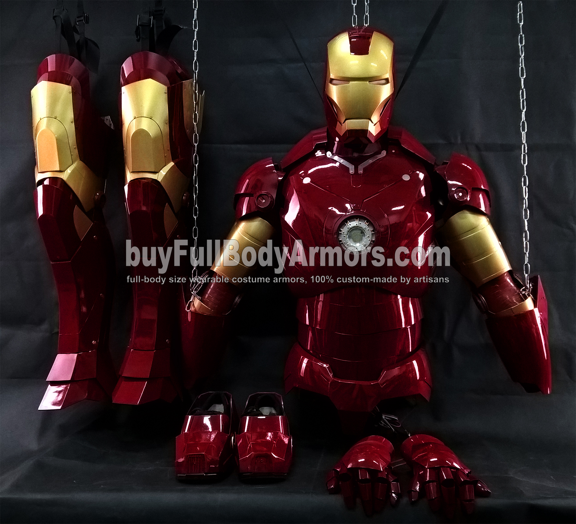 All Parts of the Wearable Iron Man Suit Mark 3 III Armor Costume