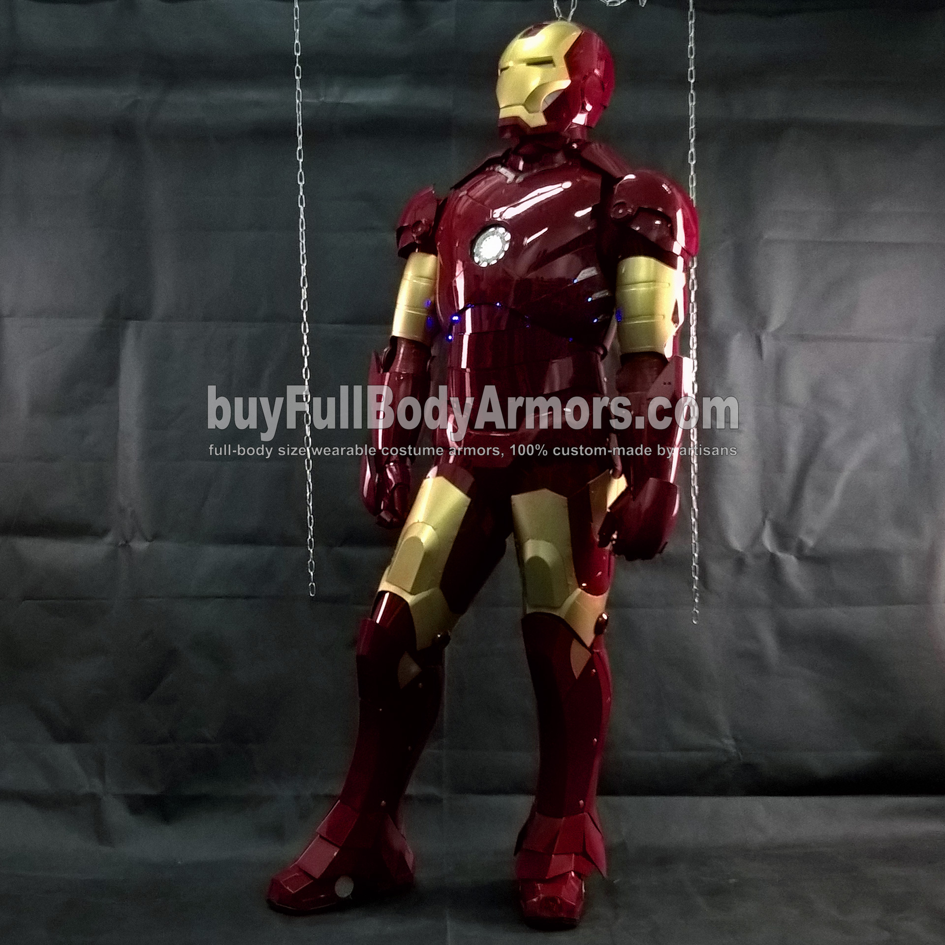 Wearing the Wearable Iron Man Suit Mark 3 III Armor Costume - Photos 3