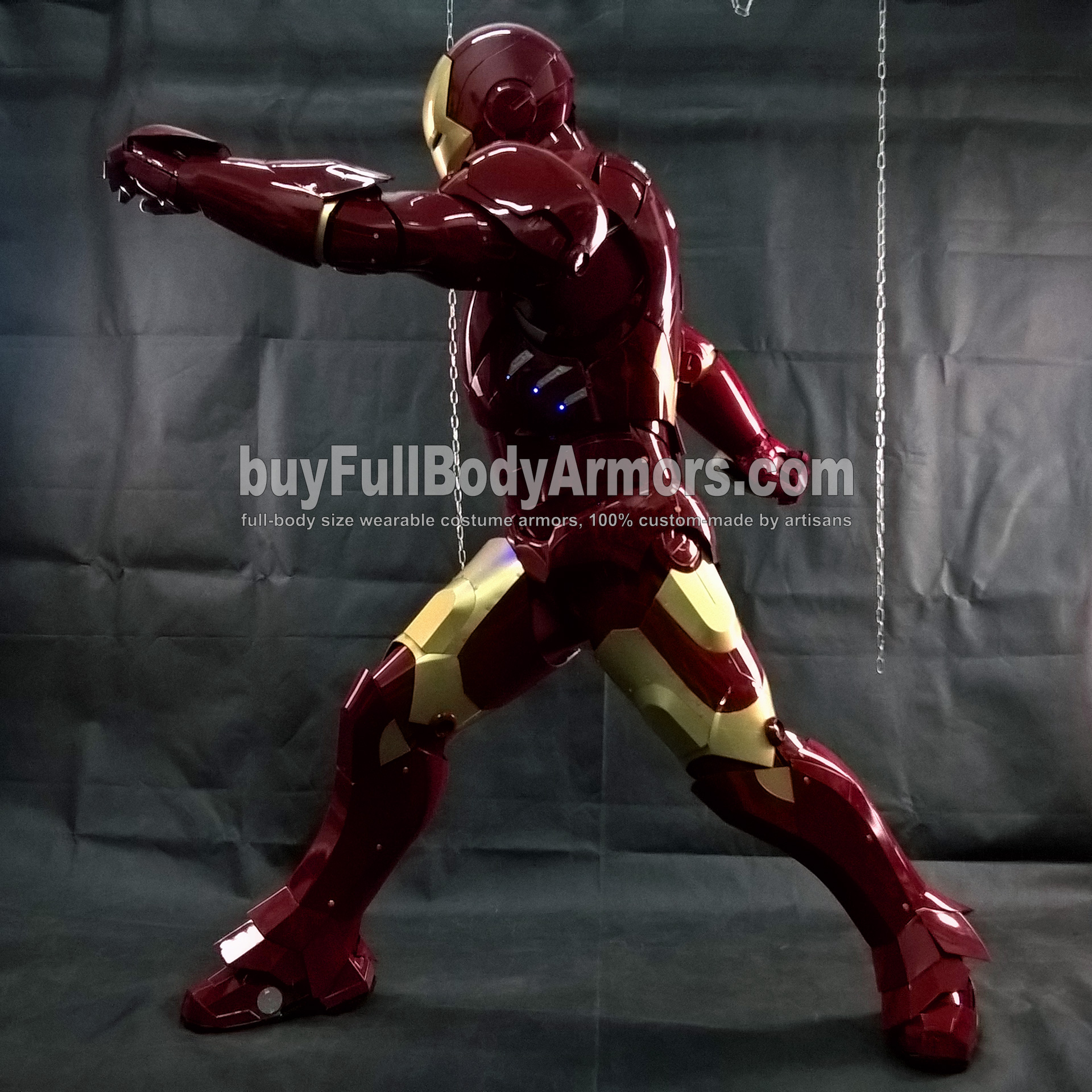 Wearing the Wearable Iron Man Suit Mark 3 III Armor Costume - Photos 4