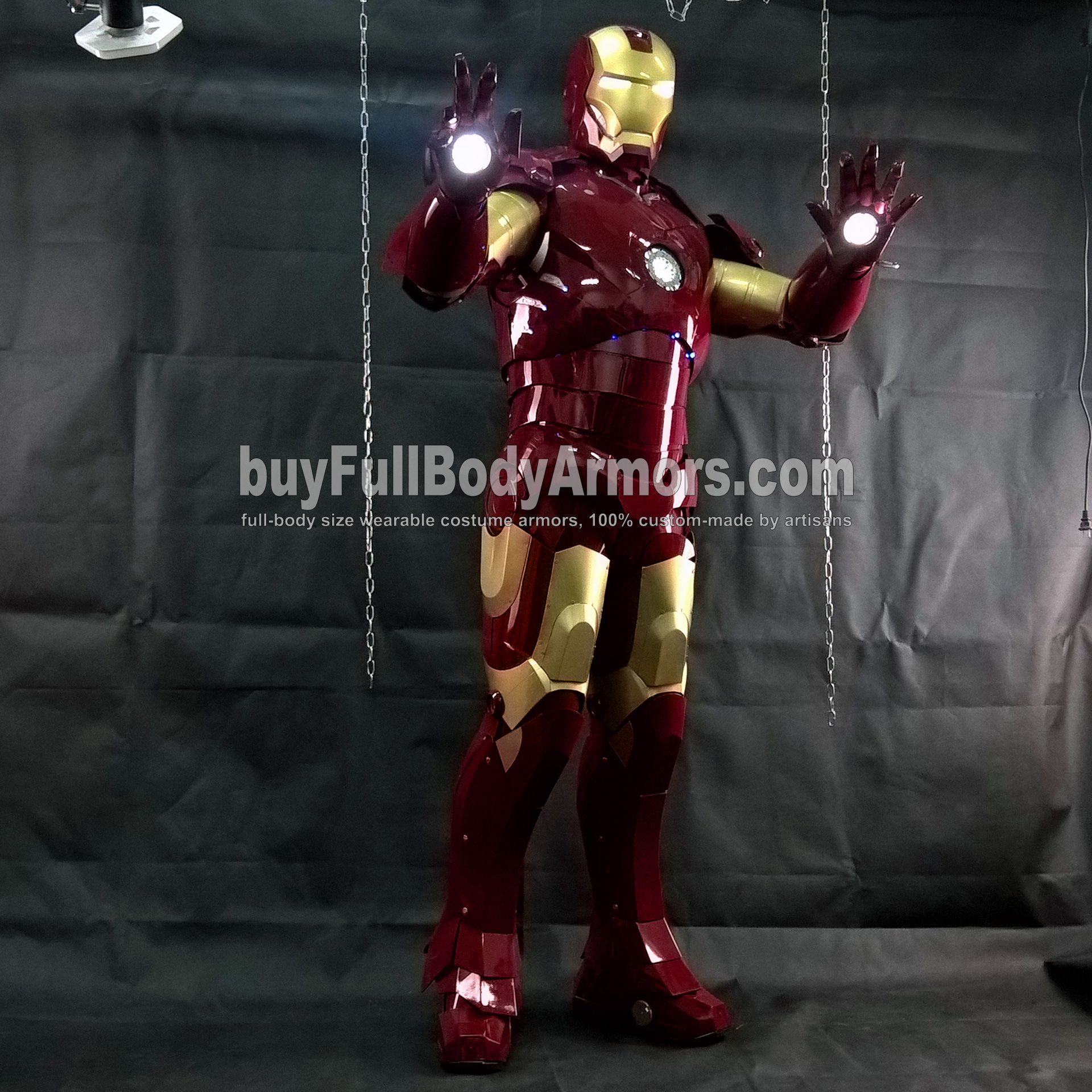 Wearing the Wearable Iron Man Suit Mark 3 III Armor Costume - Photos 5