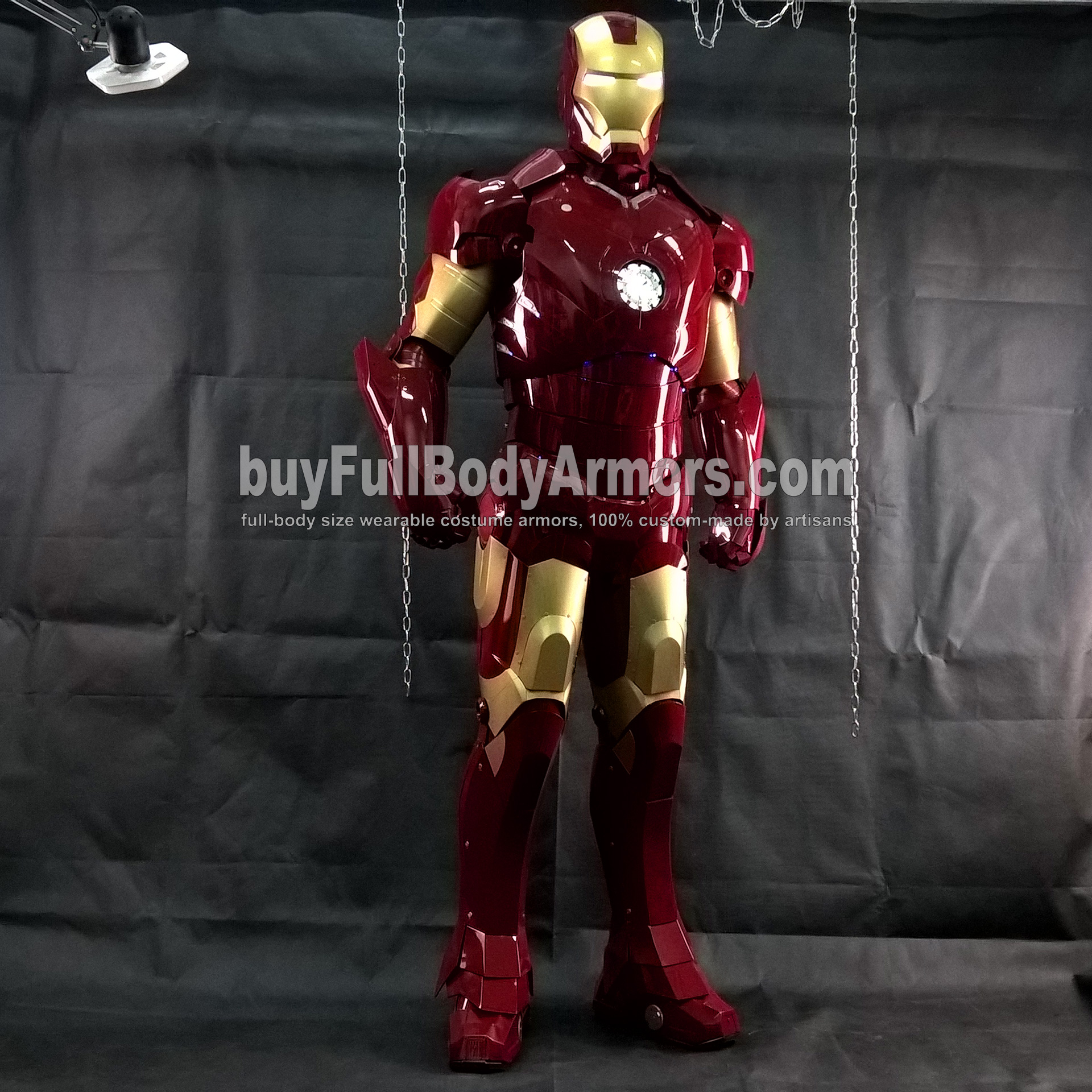 Wearing the Wearable Iron Man Suit Mark 3 III Armor Costume - Photos 6