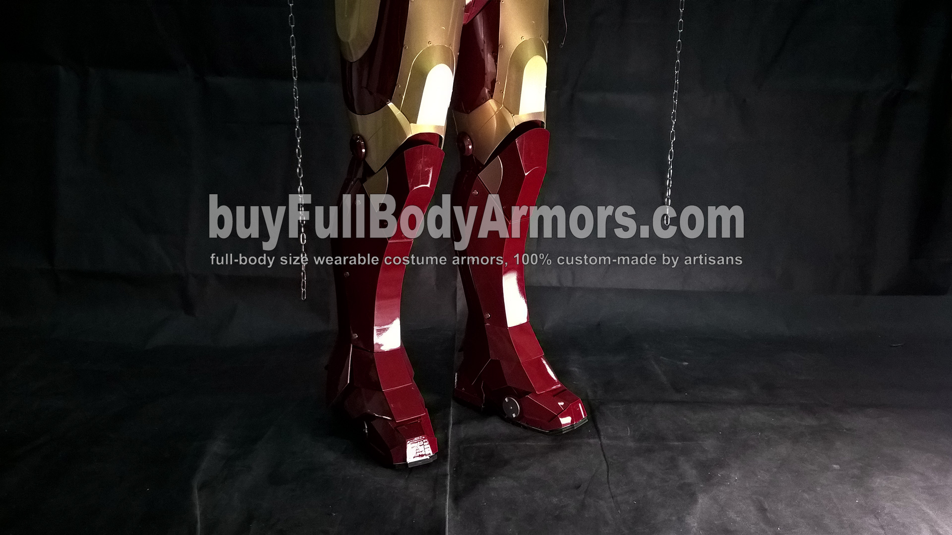 Wearing the Wearable Iron Man Suit Mark 3 III Armor Costume - Leg and Shoe Armors 1