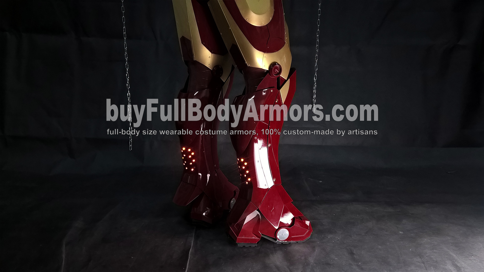 Wearing the Wearable Iron Man Suit Mark 3 III Armor Costume - Leg and Shoe Armors 2