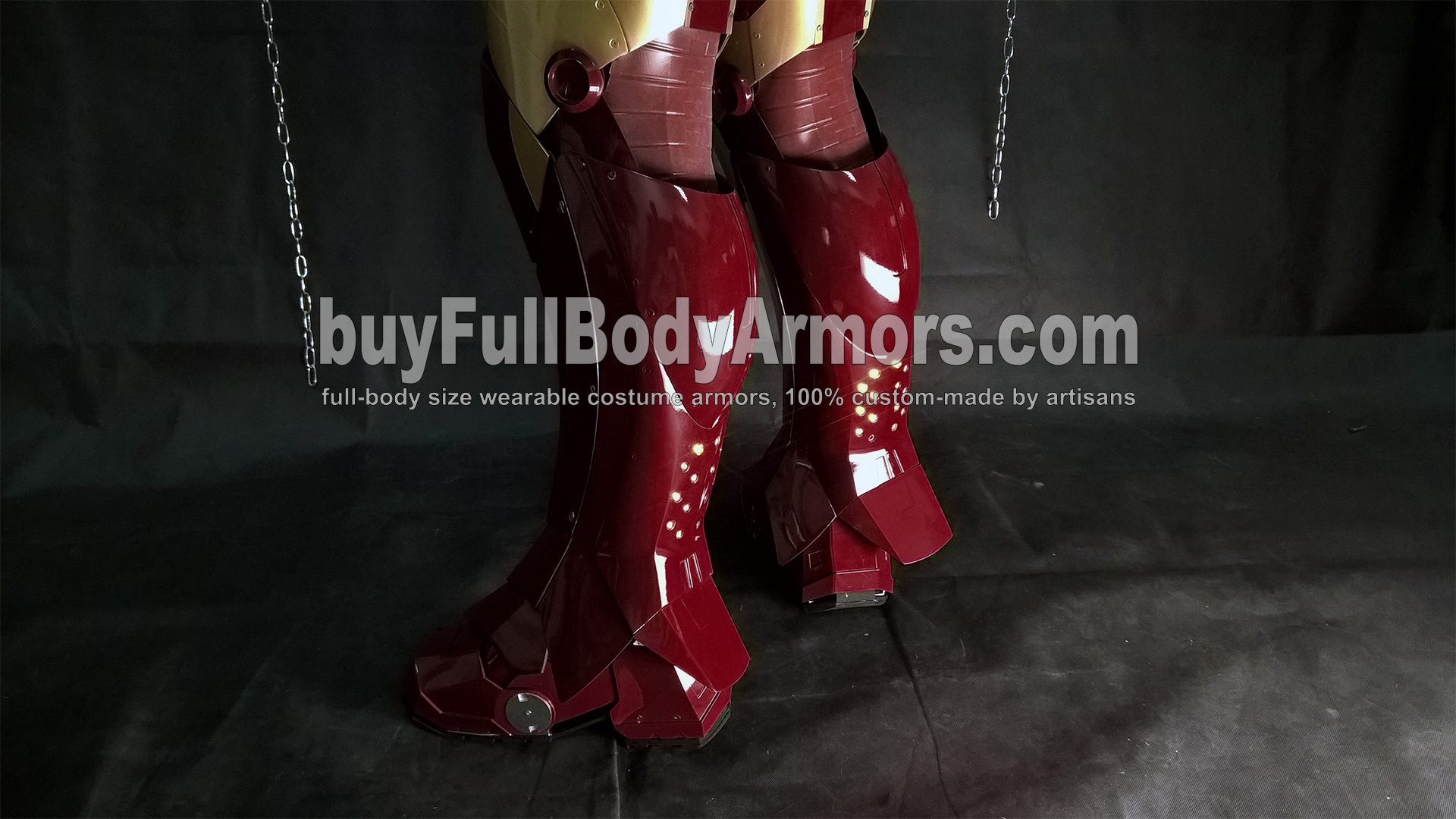 Wearing the Wearable Iron Man Suit Mark 3 III Armor Costume - Leg and Shoe Armors 3