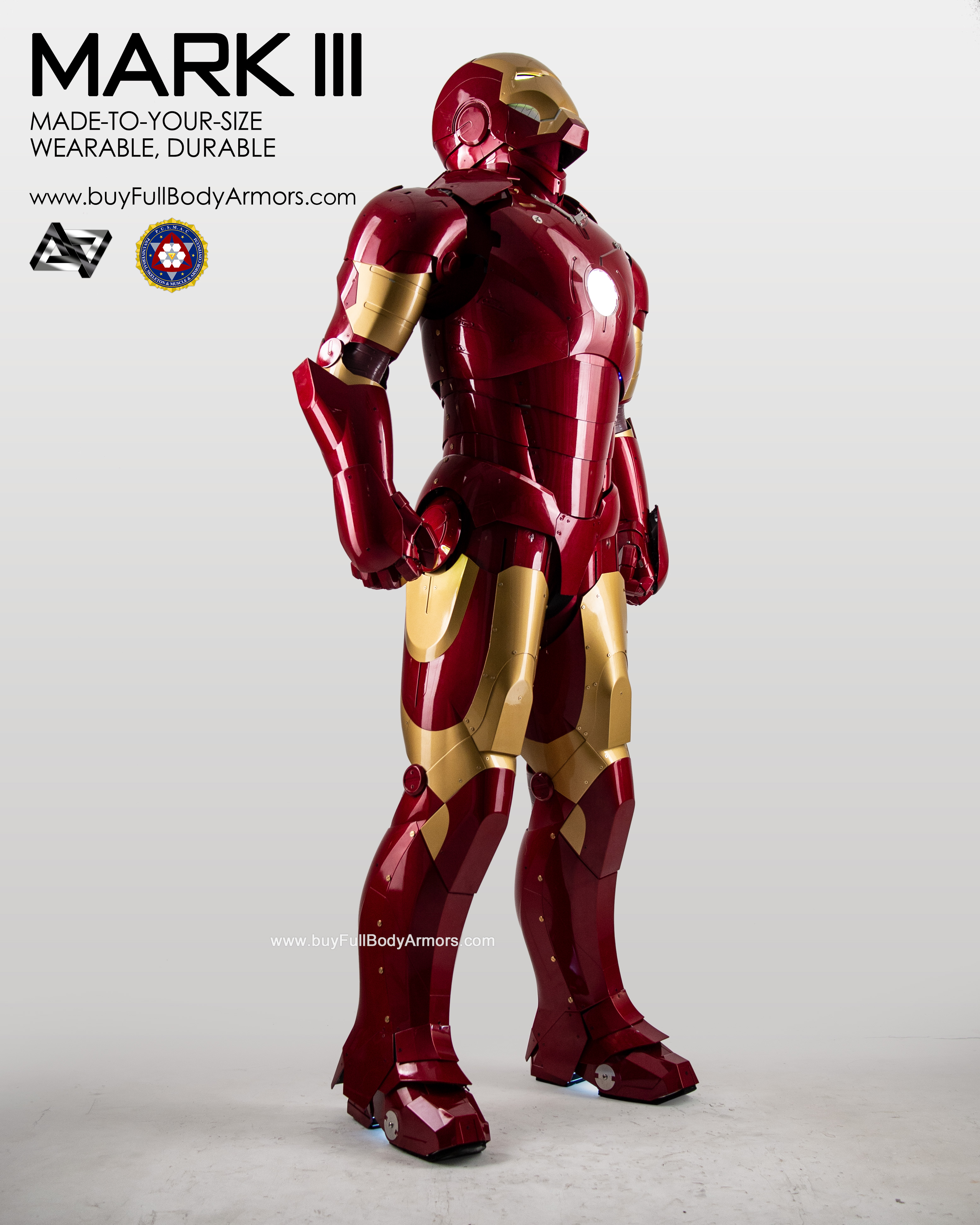 New Wearable Iron Man Mark 3 III Armor Costume Suit 1