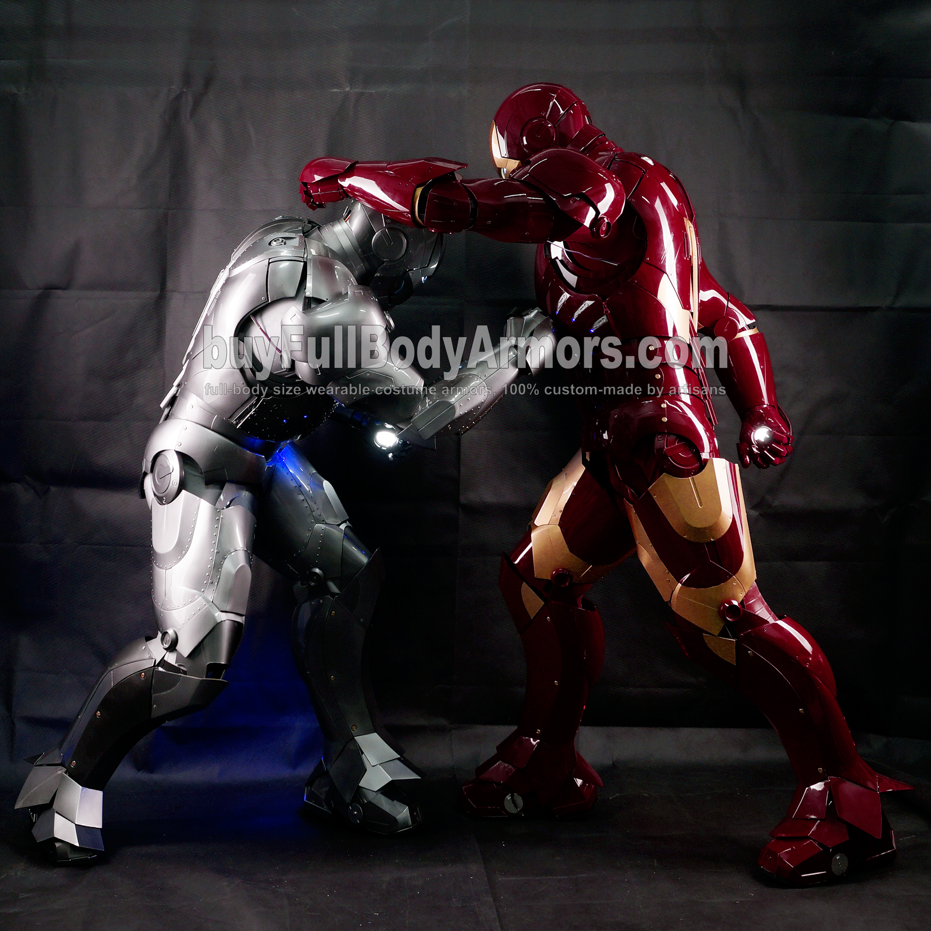 Real Iron Man Mark 3 III v Mark 2 II Cosplay 1
