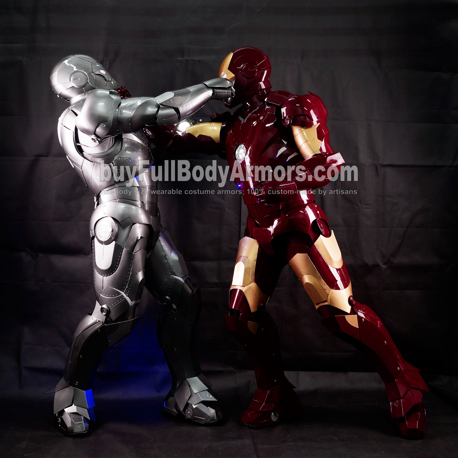 Real Iron Man Mark 3 III v Mark 2 II Cosplay 2