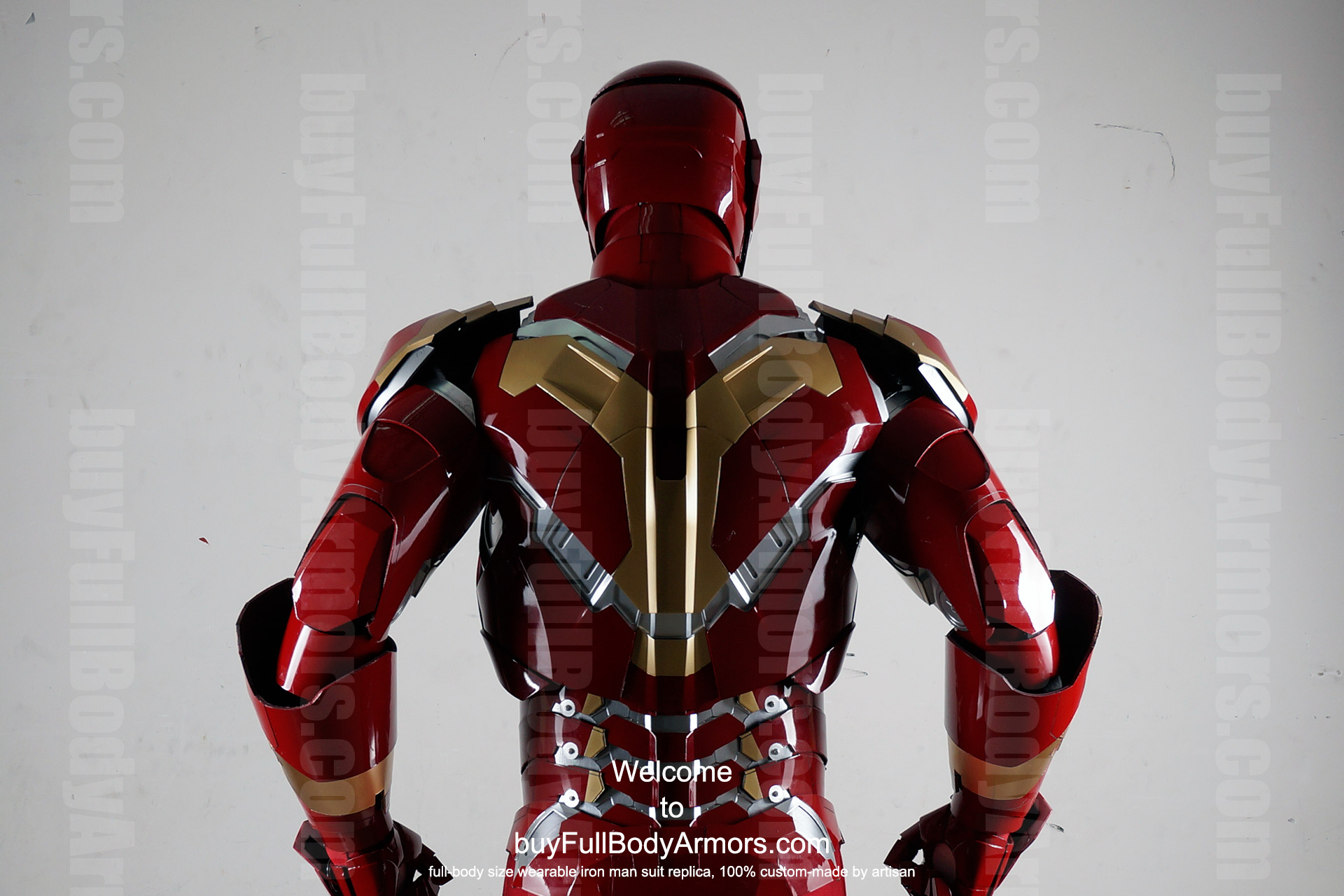 Wearable Iron Man Mark 43 (XLIII) suit costume prototype upper DSLR back