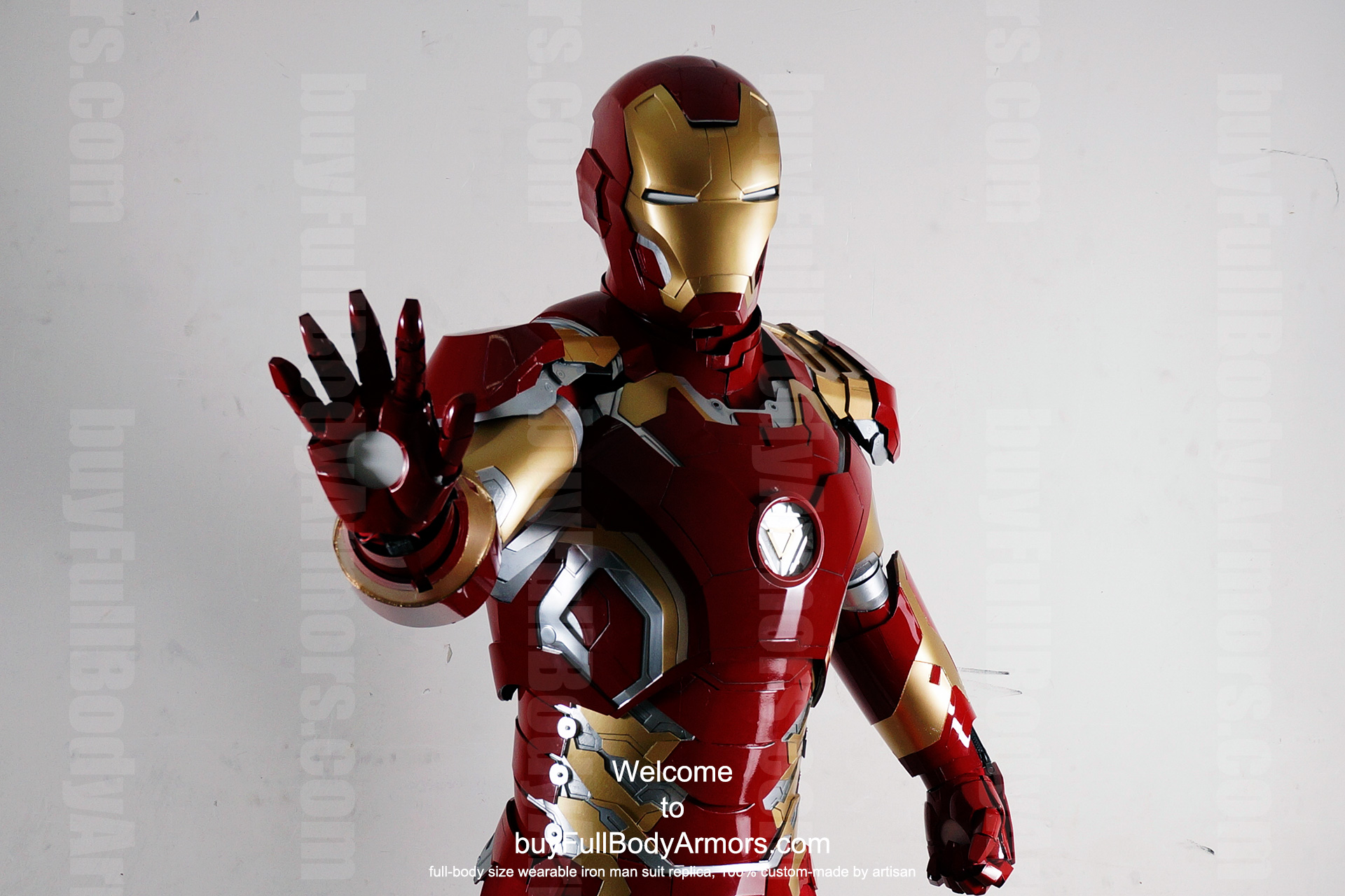 Wearable Iron Man Mark 43 (XLIII) suit costume prototype upper DSLR front