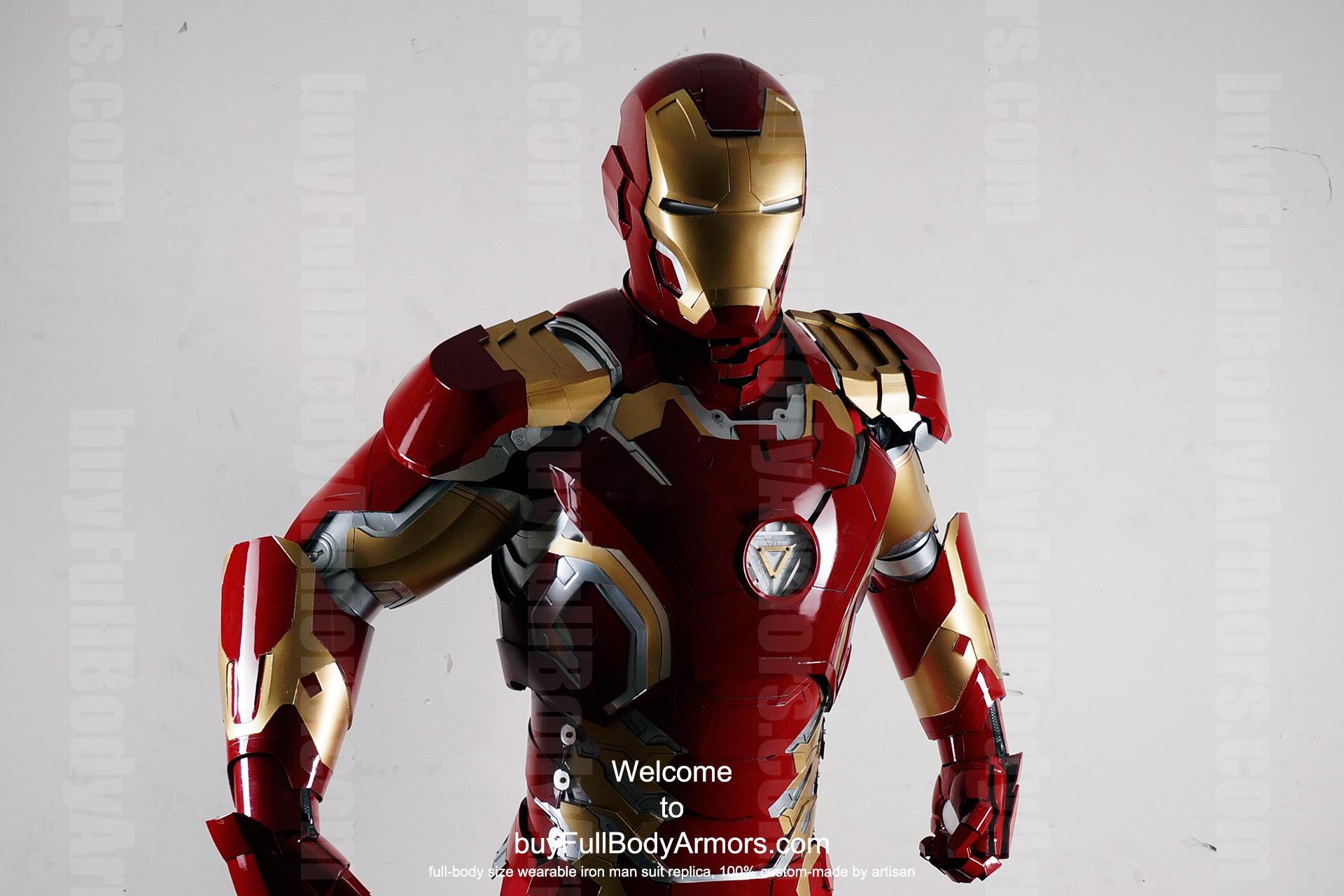 Wearable Iron Man Mark 43 (XLIII) suit costume prototype upper DSLR front2