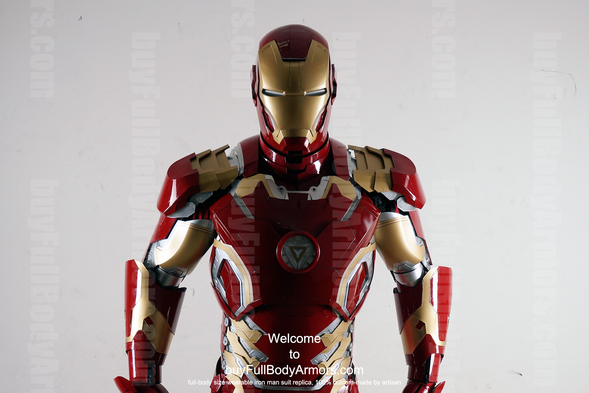 Wearable Iron Man Mark 43 (XLIII) suit costume prototype upper DSLR front3