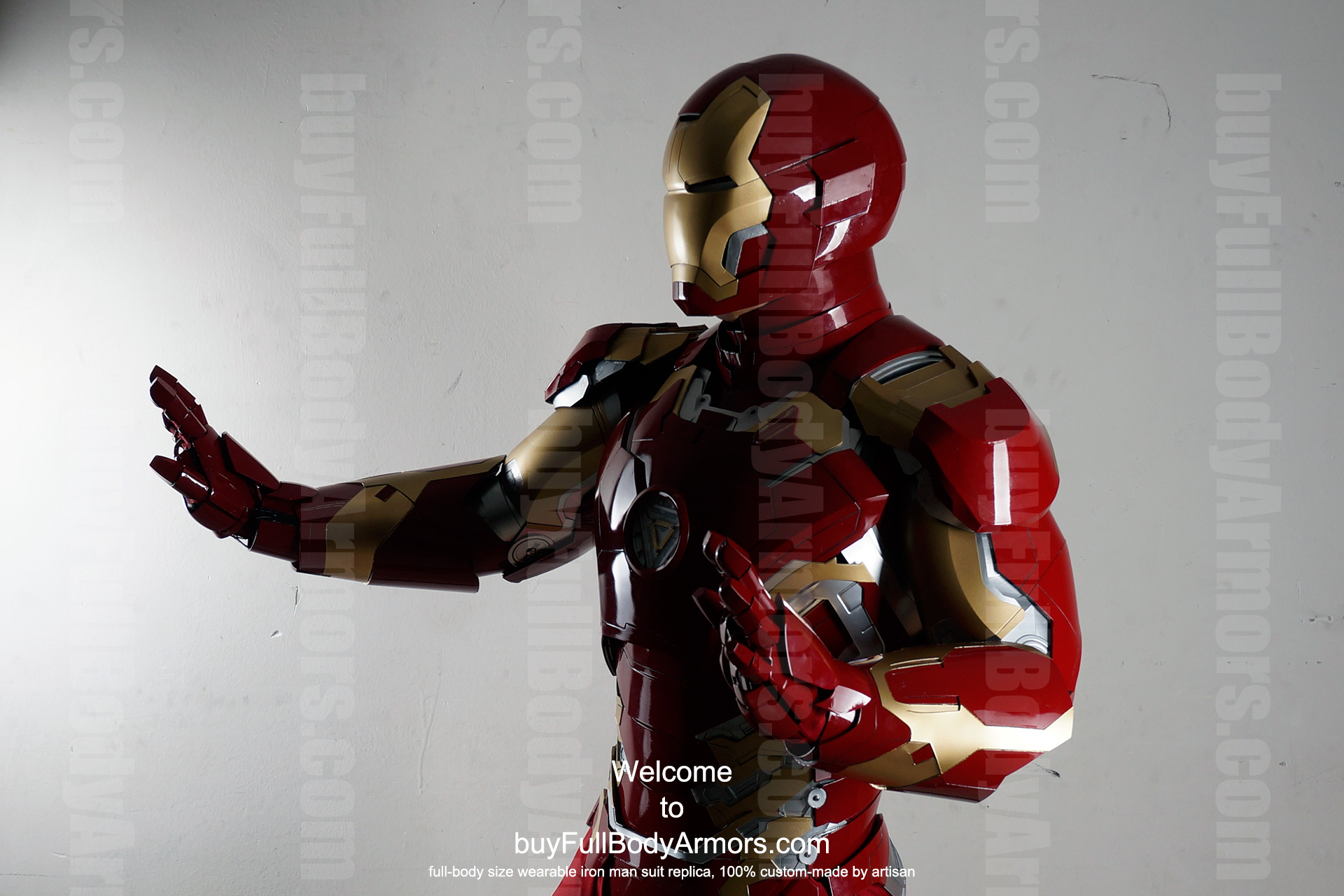 Wearable Iron Man Mark 43 (XLIII) suit costume prototype upper DSLR side