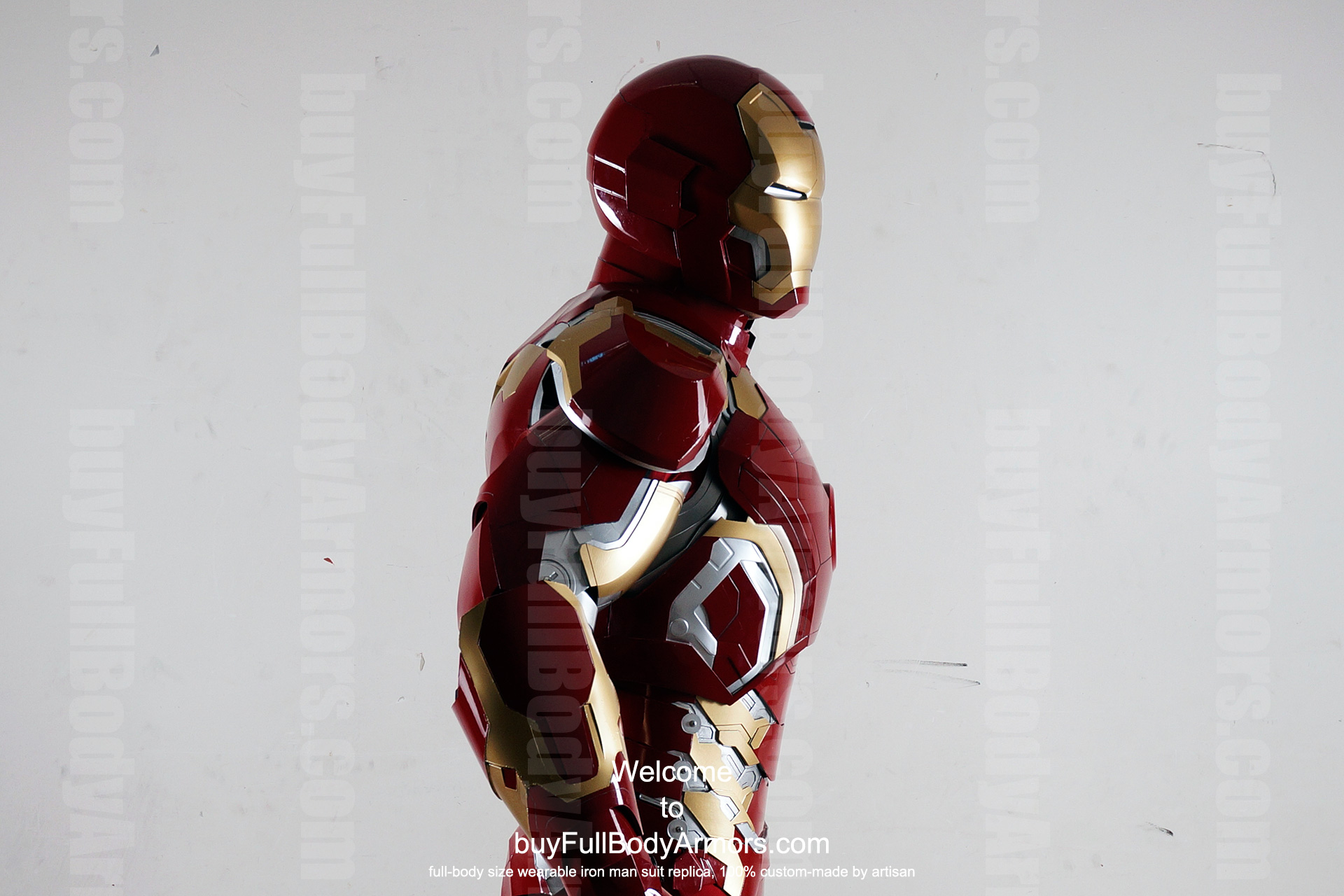 Wearable Iron Man Mark 43 (XLIII) suit costume prototype upper DSLR side2