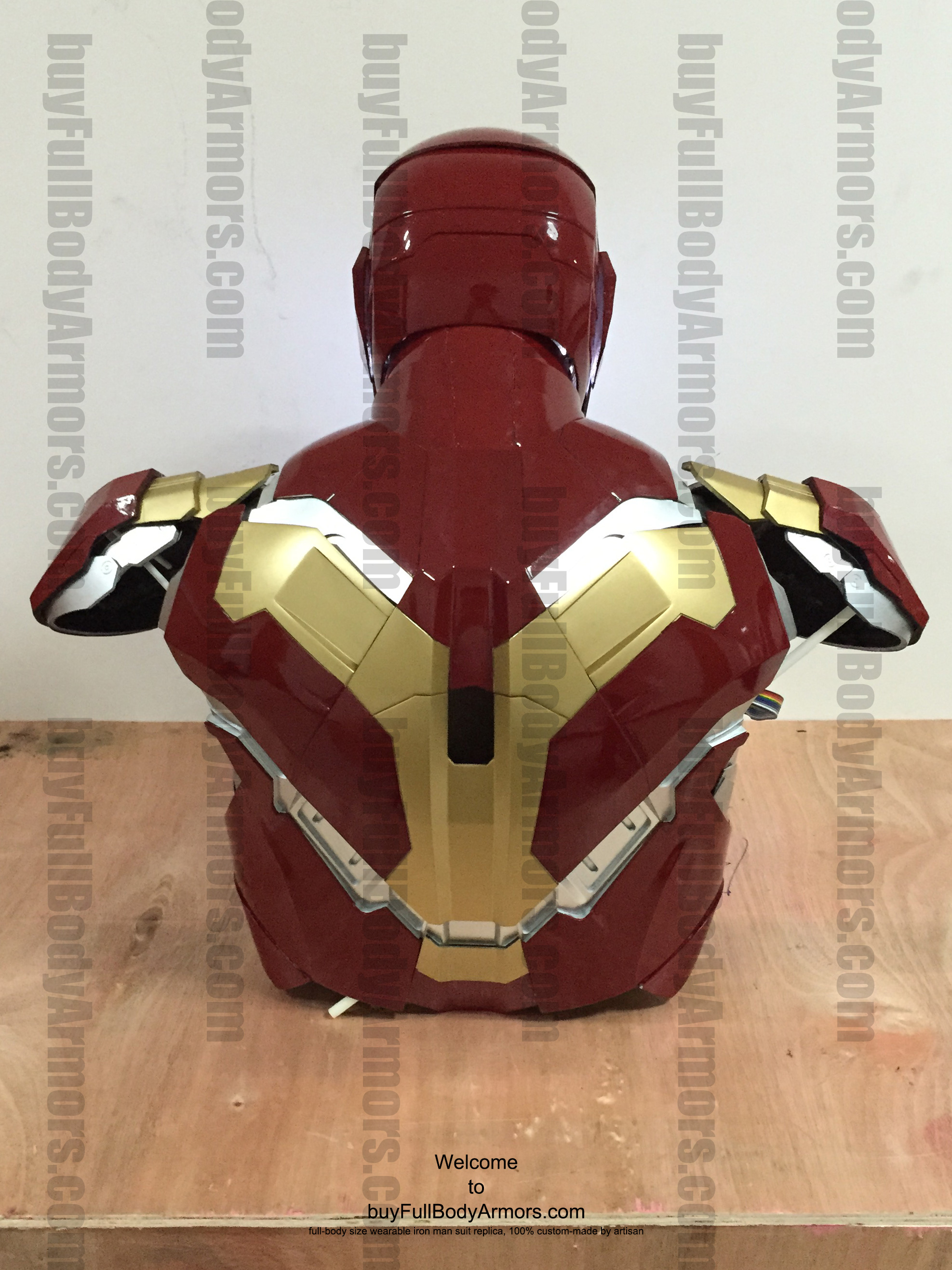 wearable Iron Man Mark 43 upper prototype back