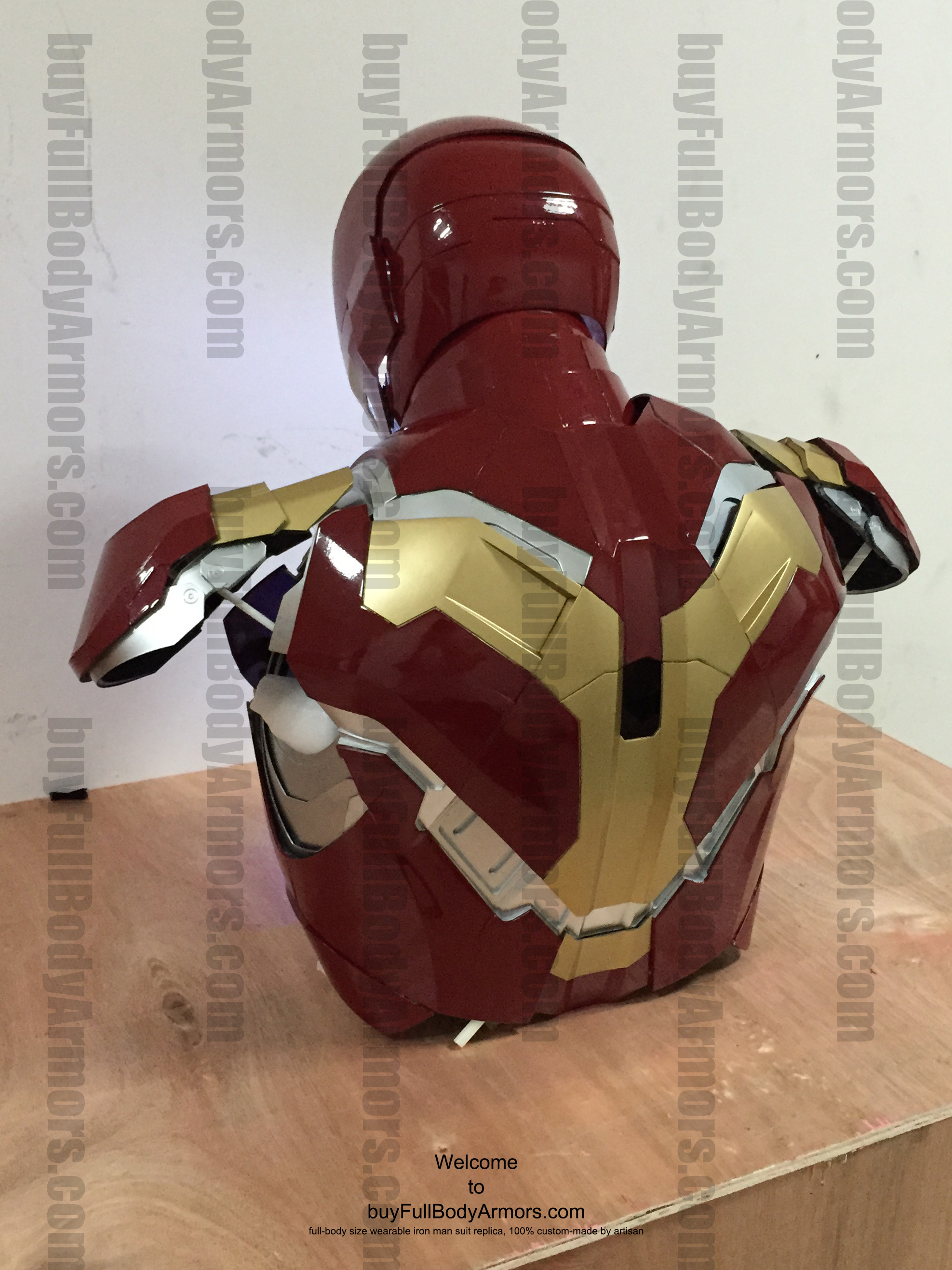 wearable Iron Man Mark 43 upper prototype back side