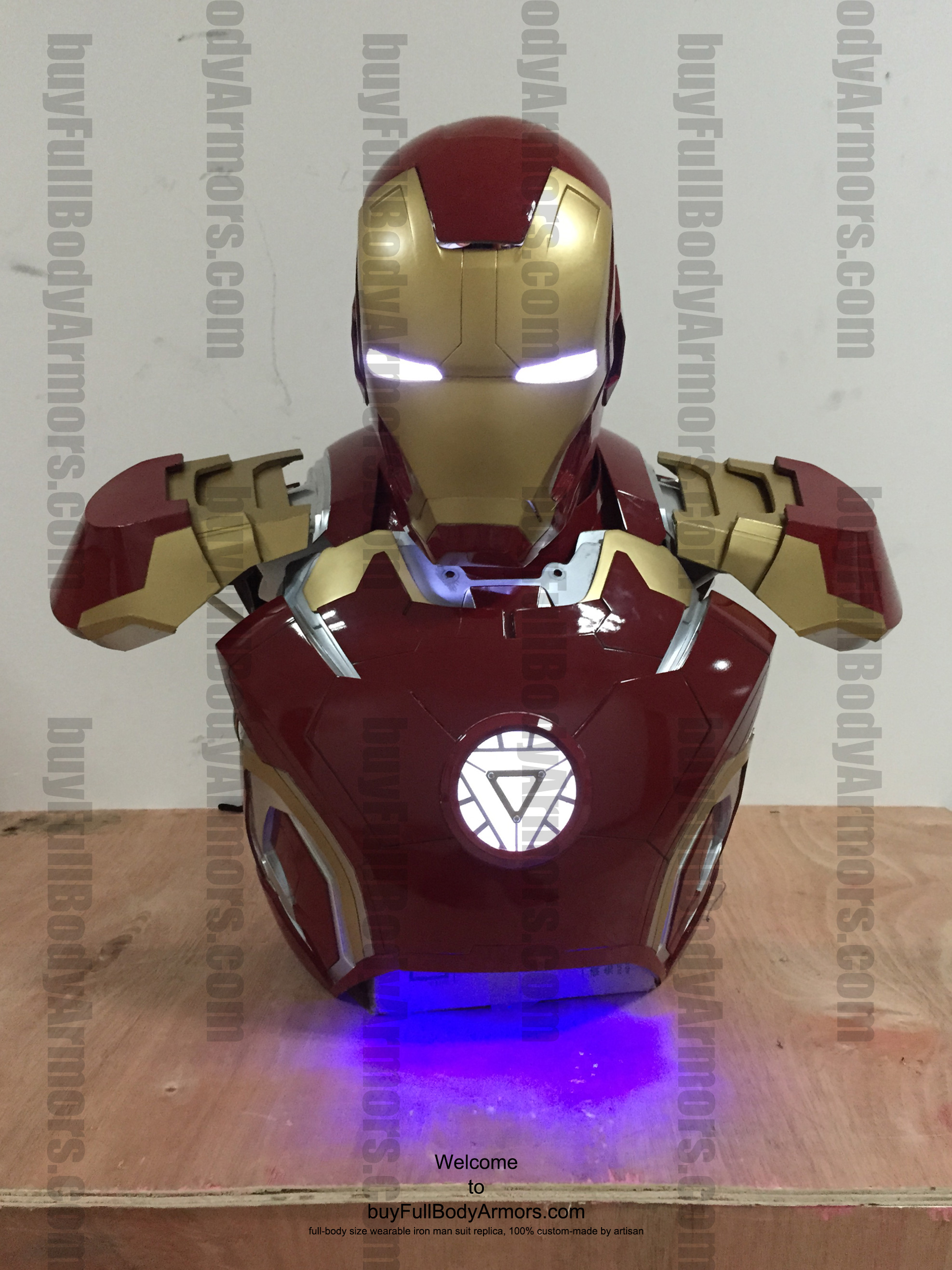 wearable Iron Man Mark 43 upper prototype front