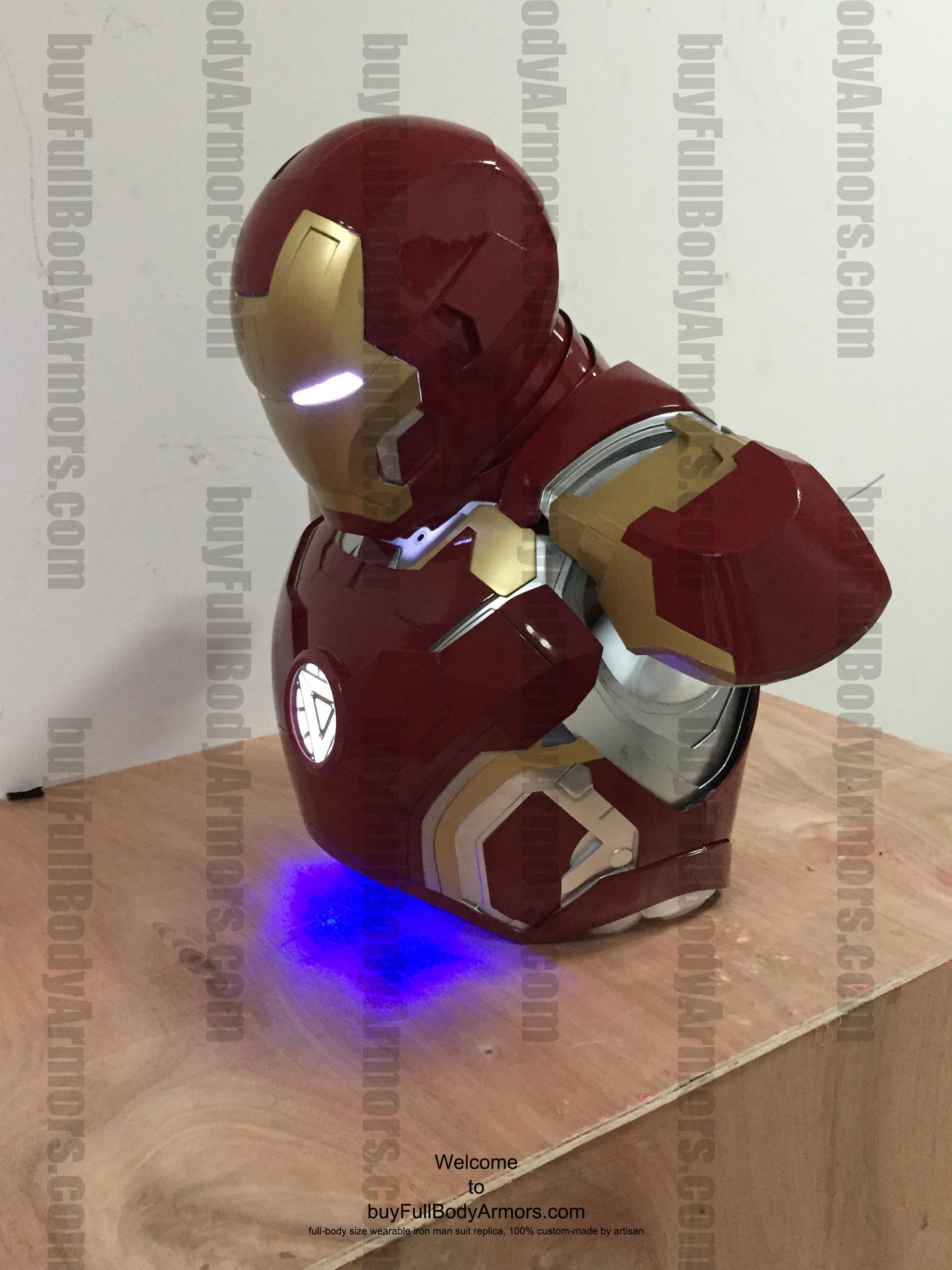 wearable Iron Man Mark 43 upper prototype front side 1