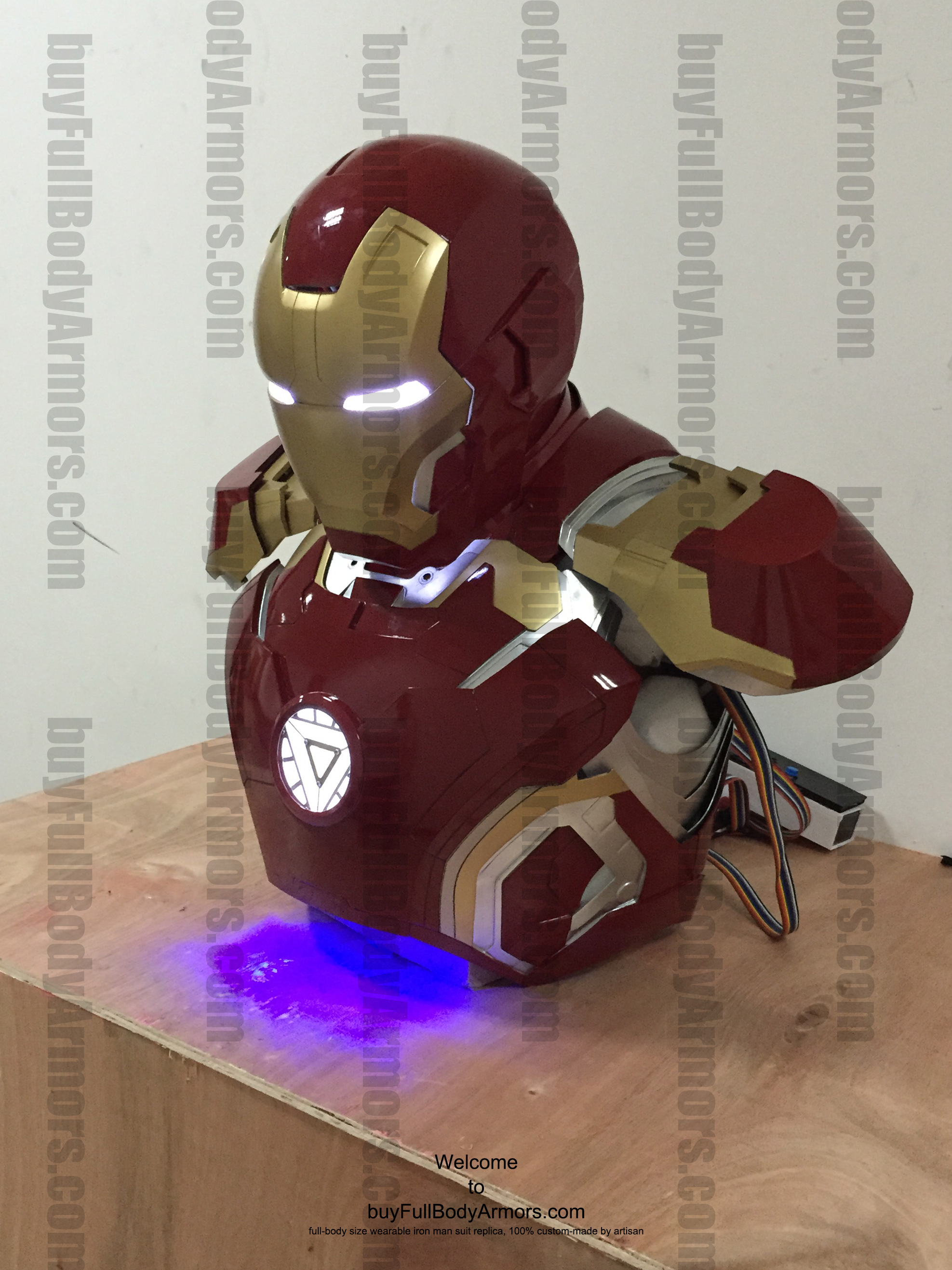 wearable Iron Man Mark 43 upper prototype front side 2