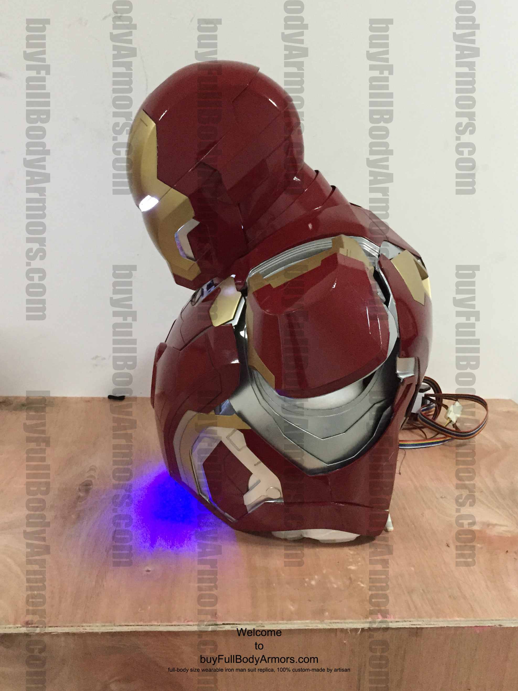 wearable Iron Man Mark 43 upper prototype side