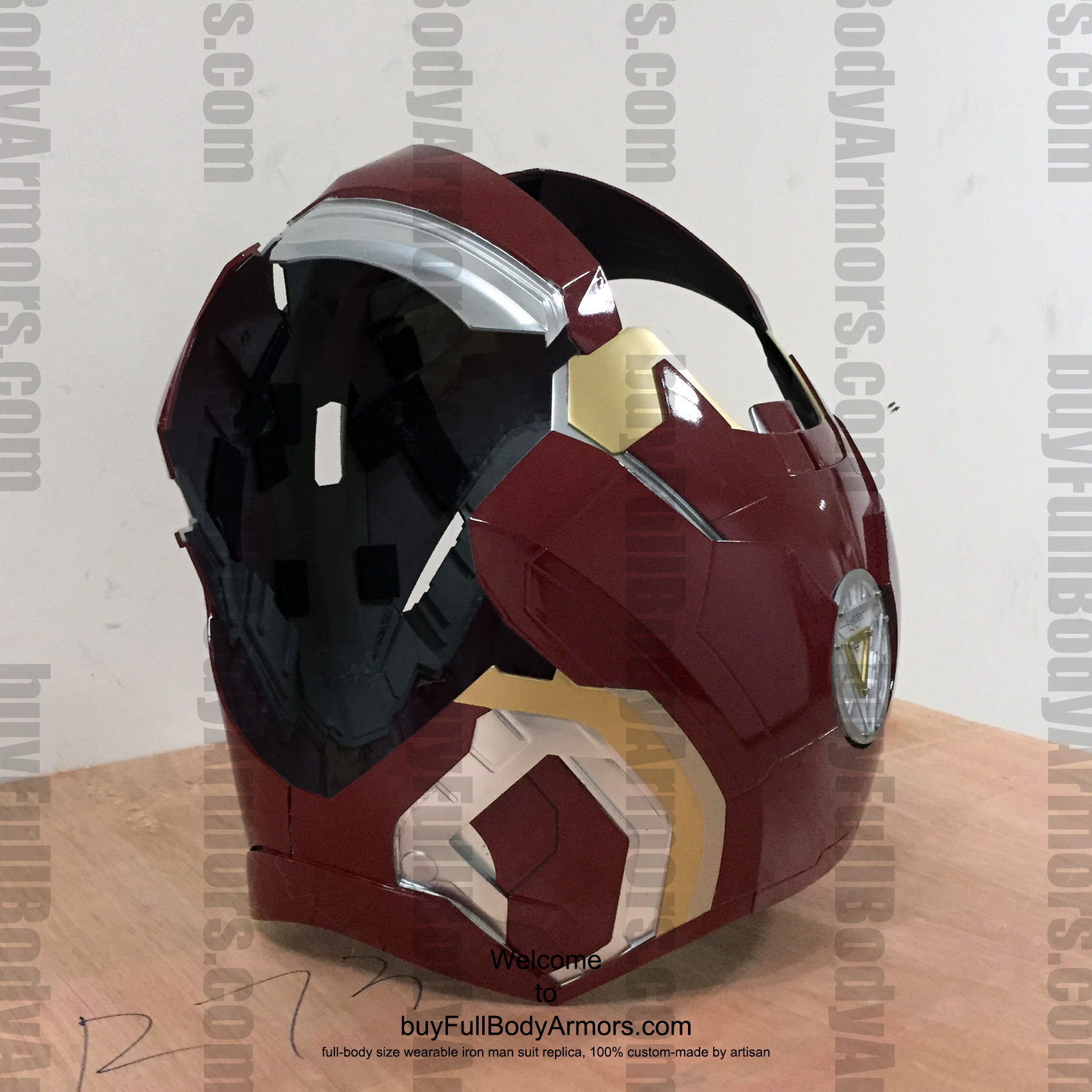 wearable Iron Man Mark 43 chest prototype 2