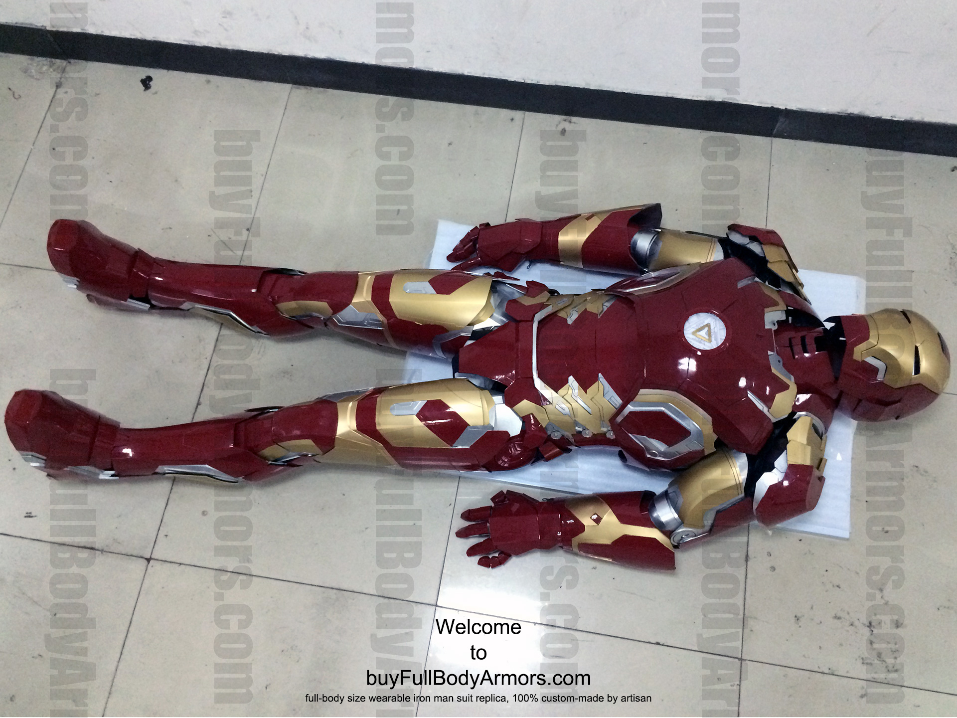 the Wearable Iron Man Mark 43 (XLIII) suit costume finished
