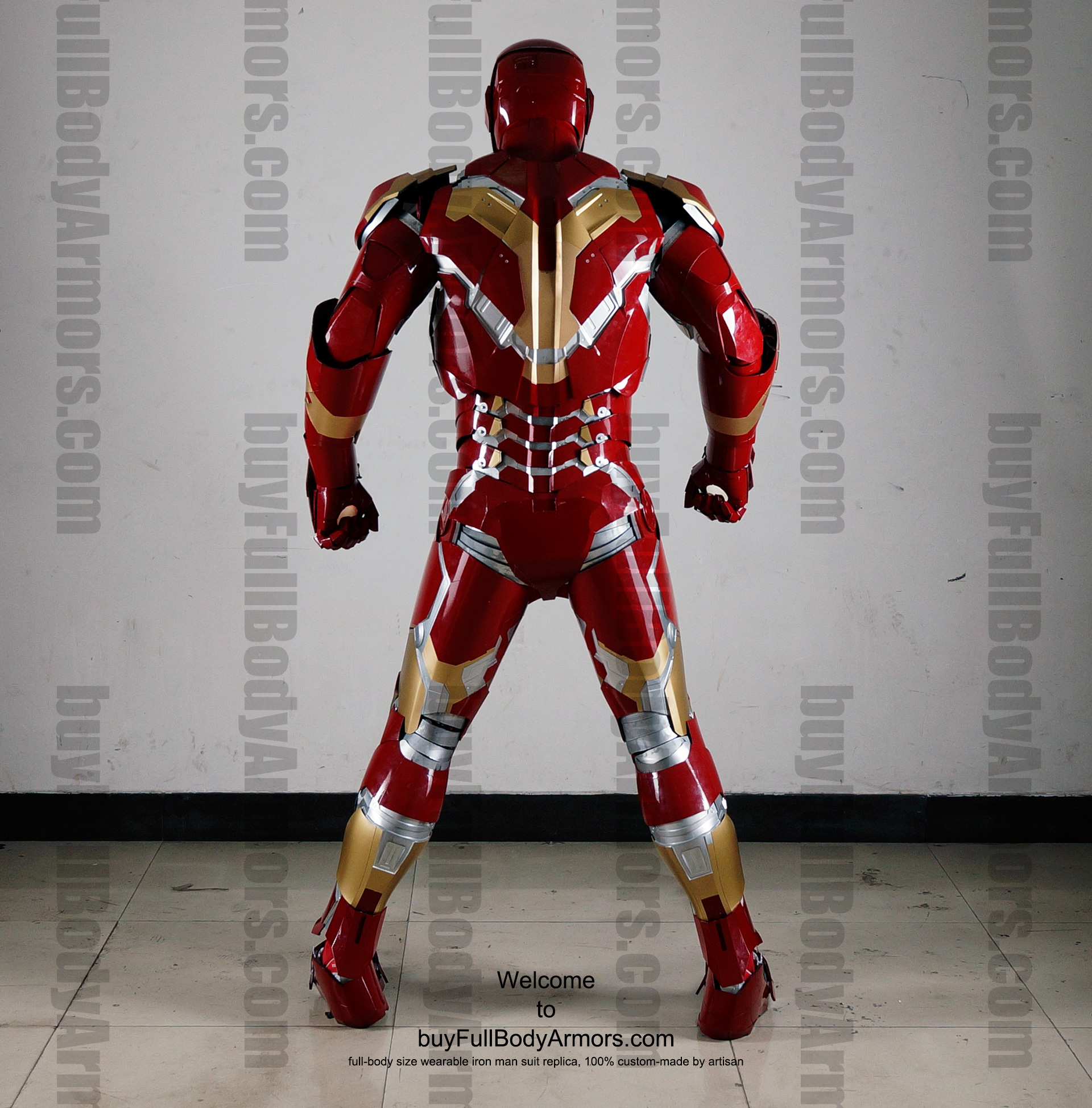 Wearable Iron Man Mark 43 (XLIII) suit costume full body back