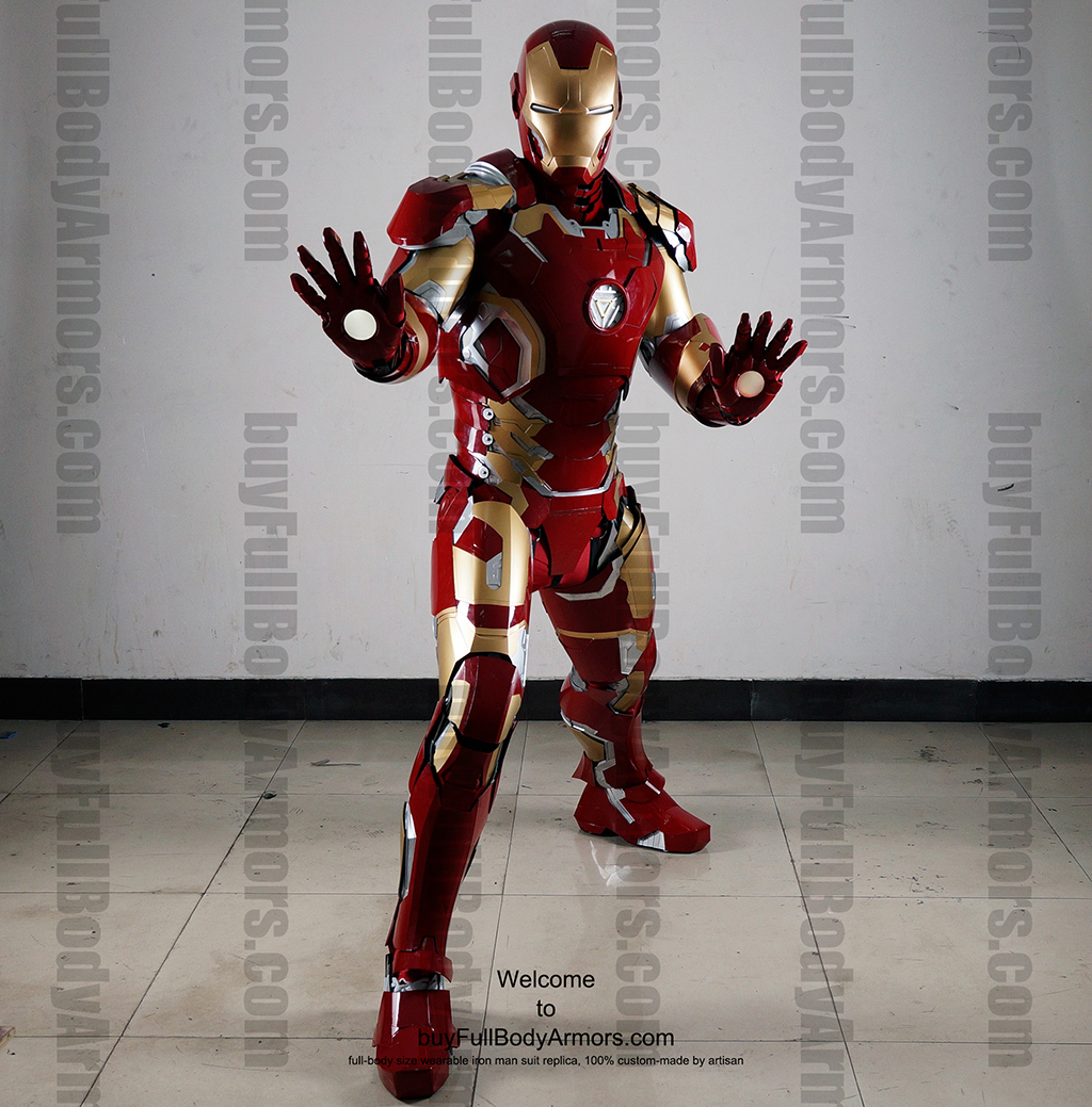 Wearable Iron Man Mark 43 (XLIII) suit costume full body front2