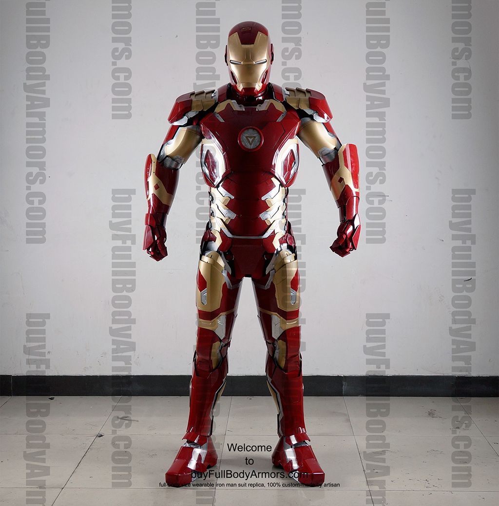 Wearable Iron Man Mark 43 (XLIII) suit costume full body front