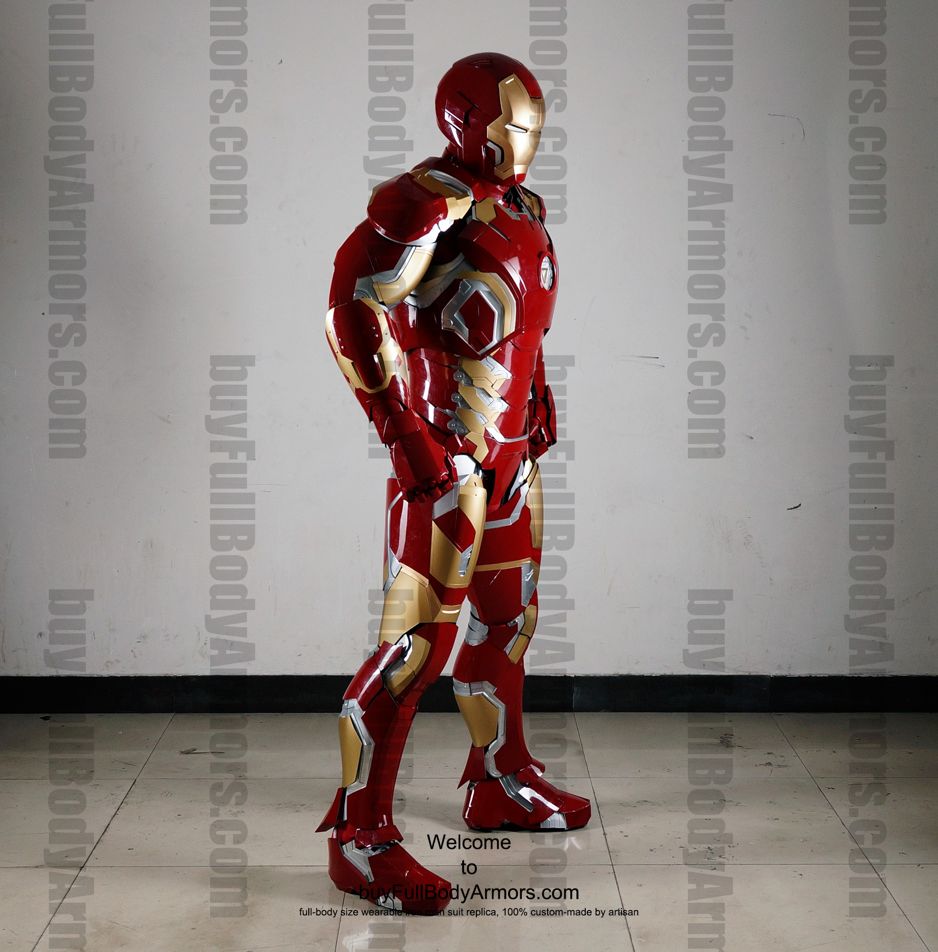 Wearable Iron Man Mark 43 (XLIII) suit costume full body side1