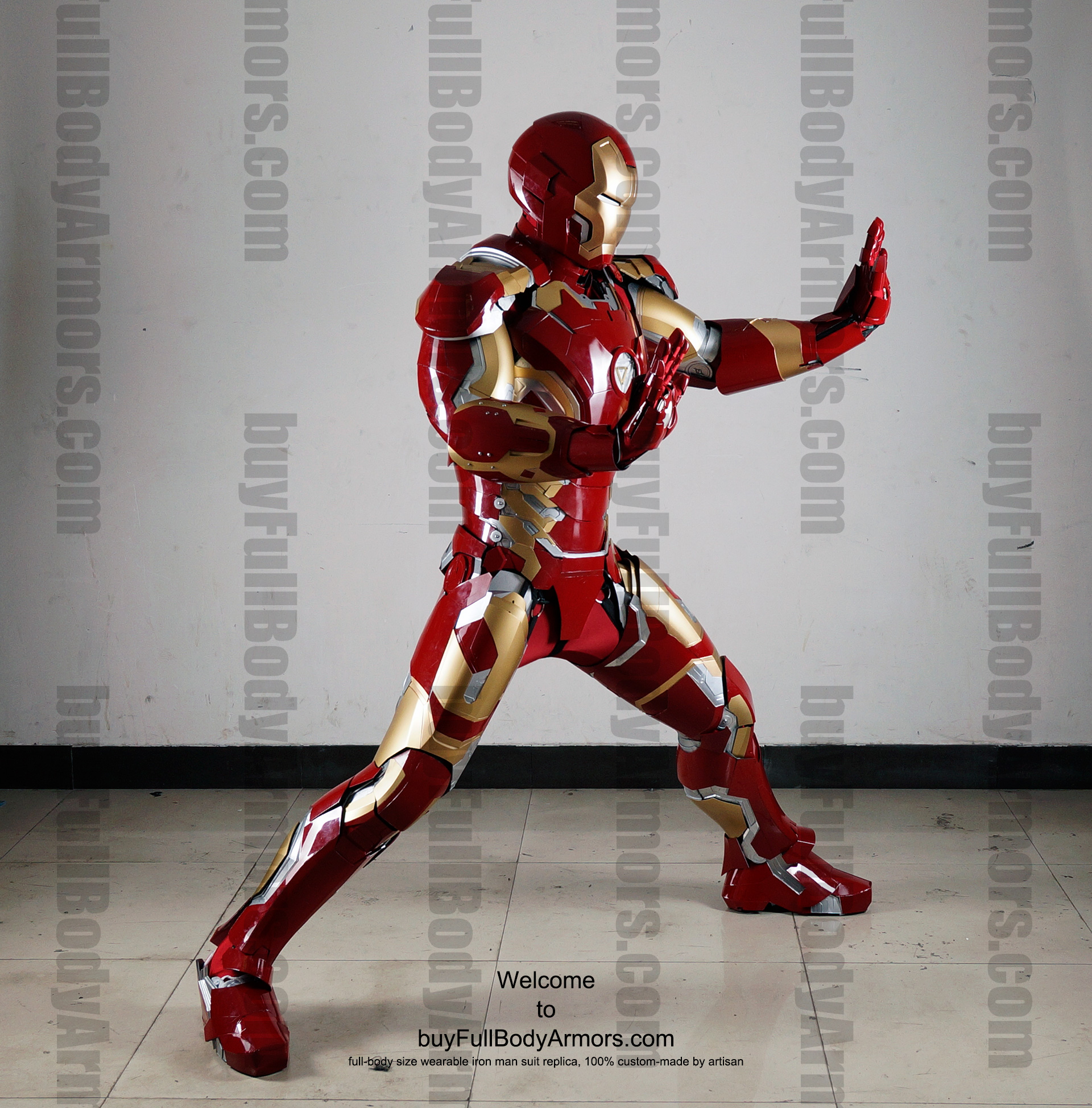 Wearable Iron Man Mark 43 (XLIII) suit costume full body side2