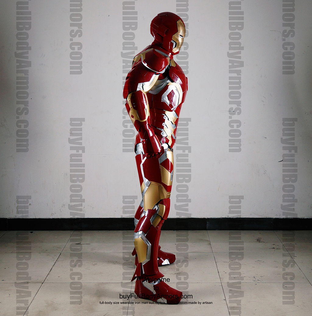 Wearable Iron Man Mark 43 (XLIII) suit costume full body side