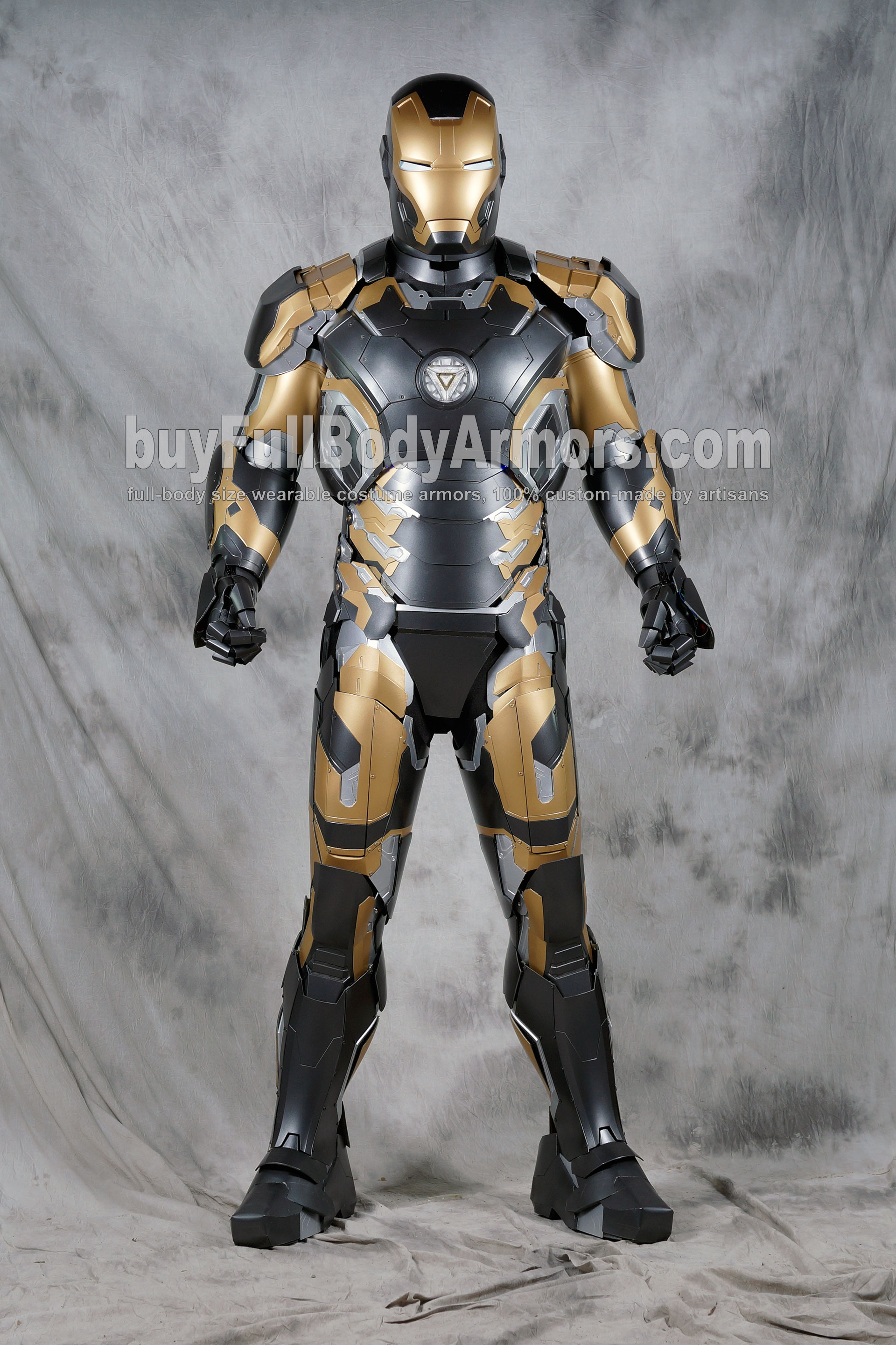 [Special Edition] Black Gold Wearable Iron Man Suit Mark 43 XLIII Armor Costume 1 & Buy Iron Man suit Halo Master Chief armor Batman costume Star ...