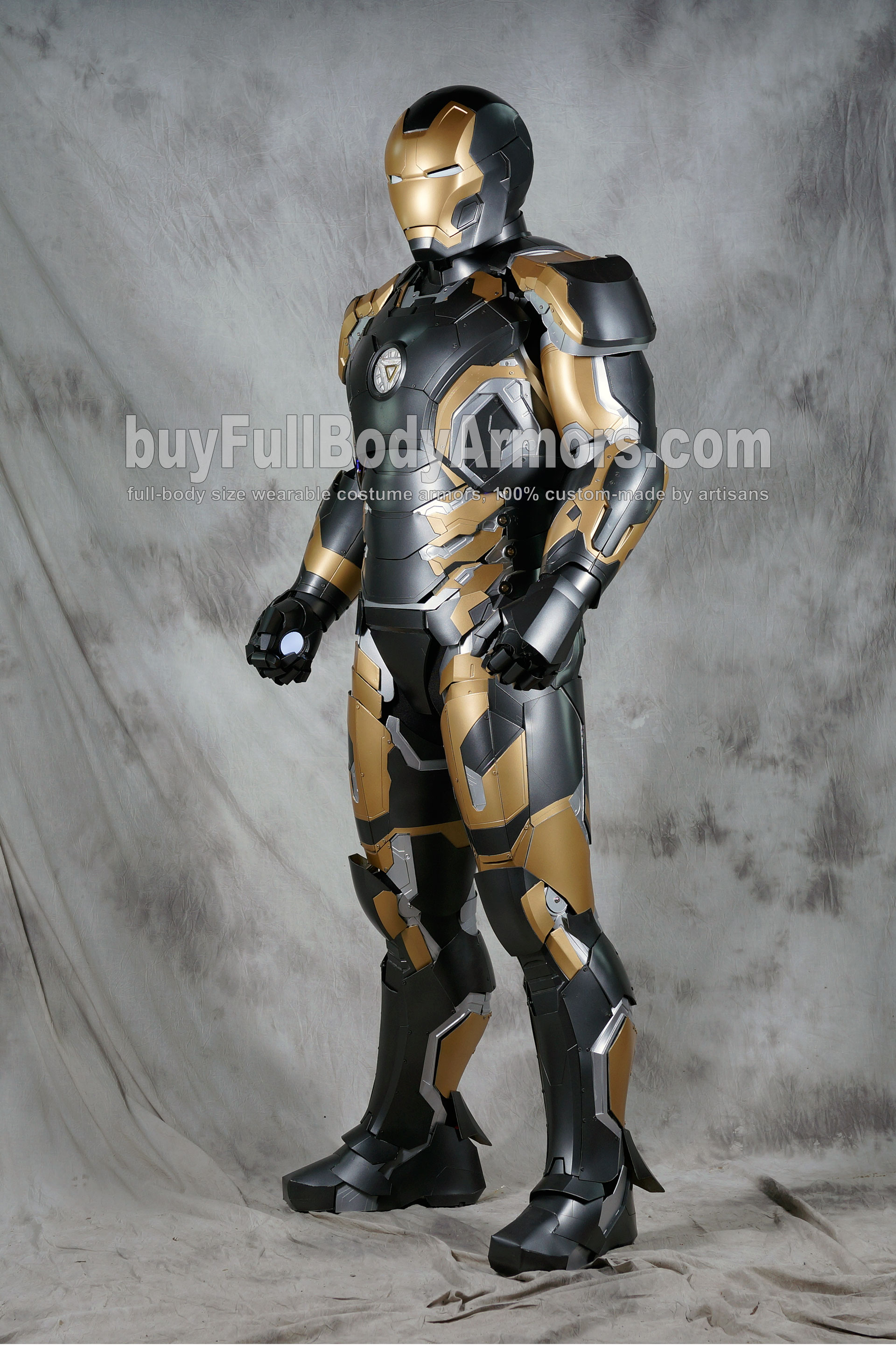 [Special Edition] Black Gold Wearable Iron Man Suit Mark 43 XLIII Armor Costume  2