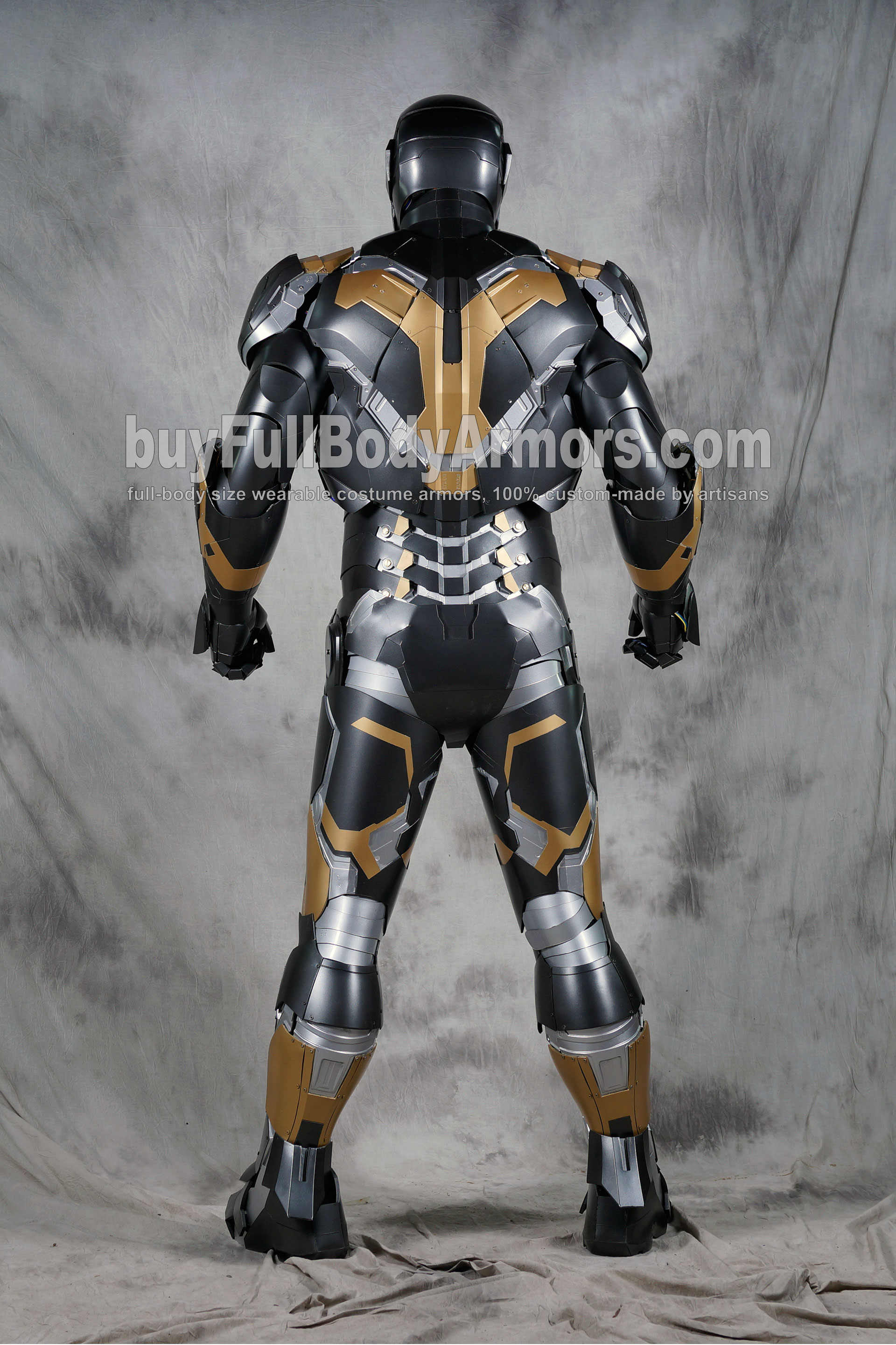[Special Edition] Black Gold Wearable Iron Man Suit Mark 43 XLIII Armor Costume  3