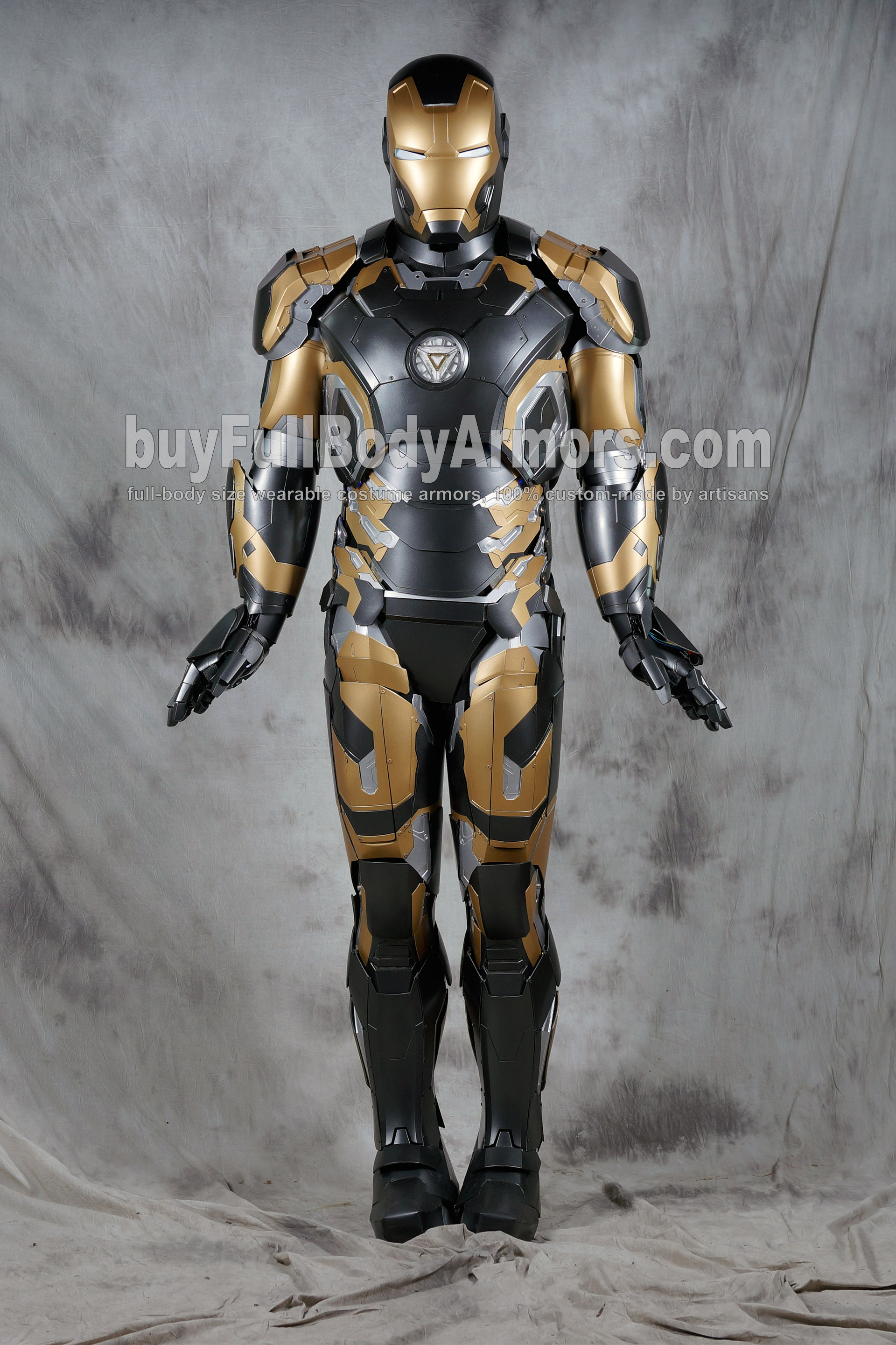[Special Edition] Black Gold Wearable Iron Man Suit Mark 43 XLIII Armor Costume  4