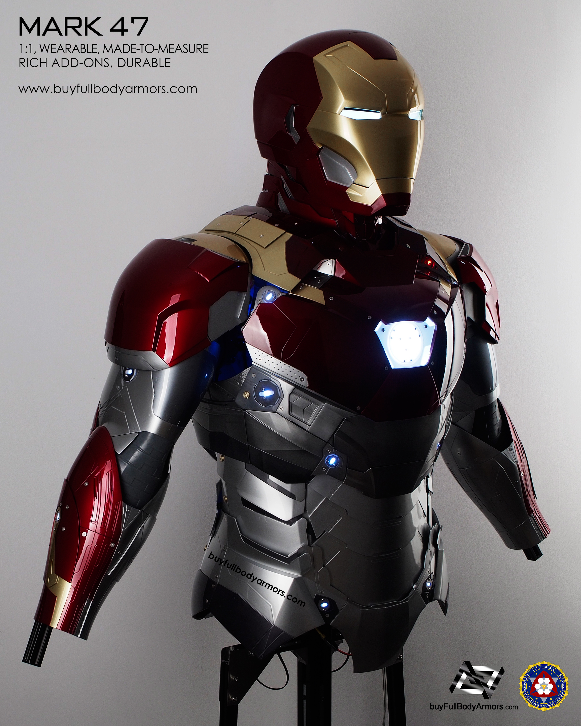 wearable_iron_man_mark_47_armor_costume_top_half_front