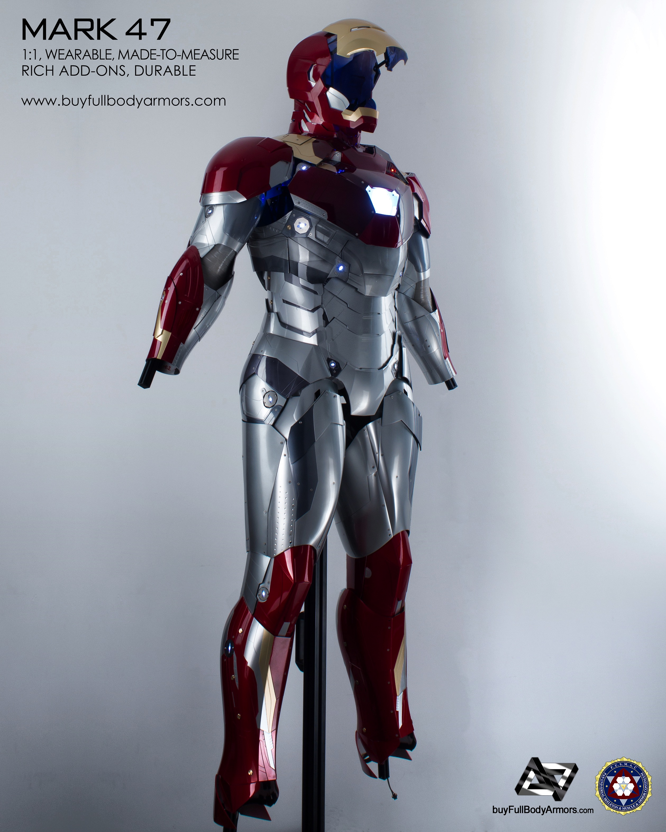wearable_iron_man_mark_47_armor_costume_with_no_hands_shoes_ins