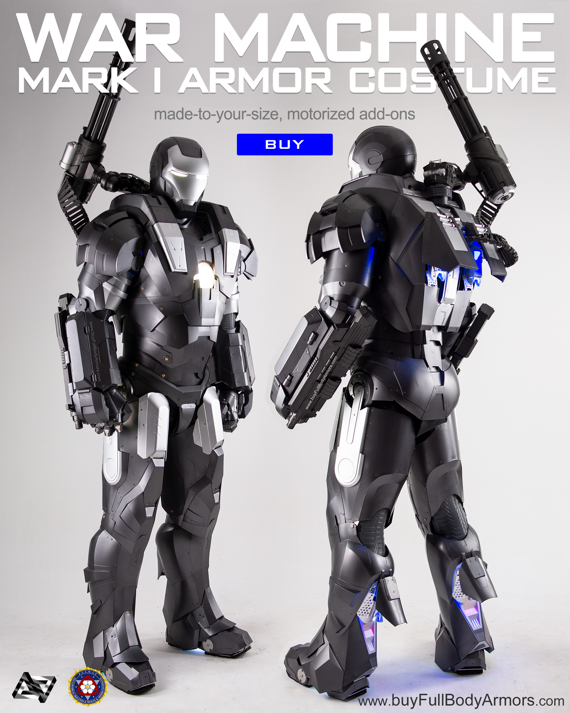buy the new War Machine Armor Costume