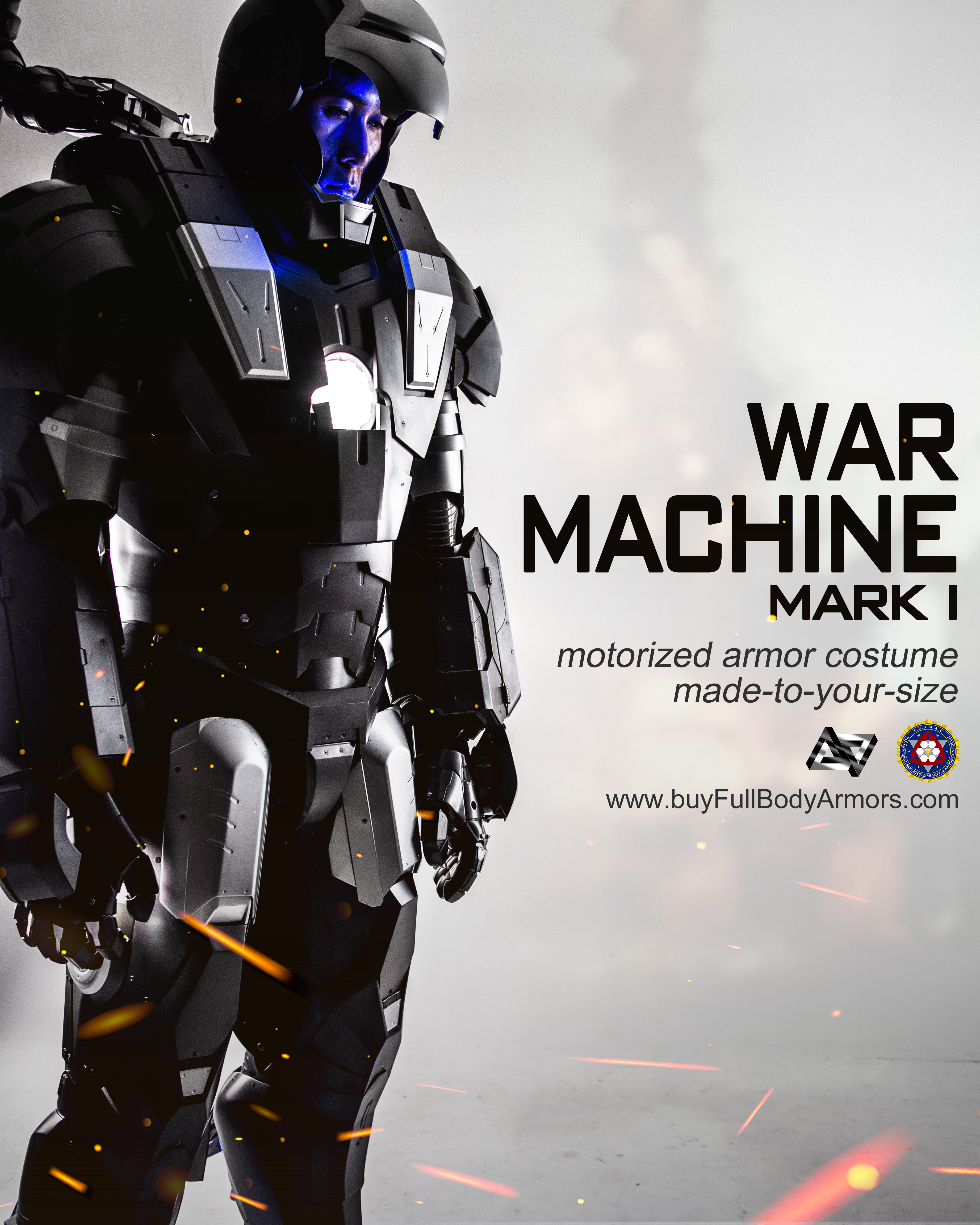 wearable War Machine suit Mark I 1 armor costume style