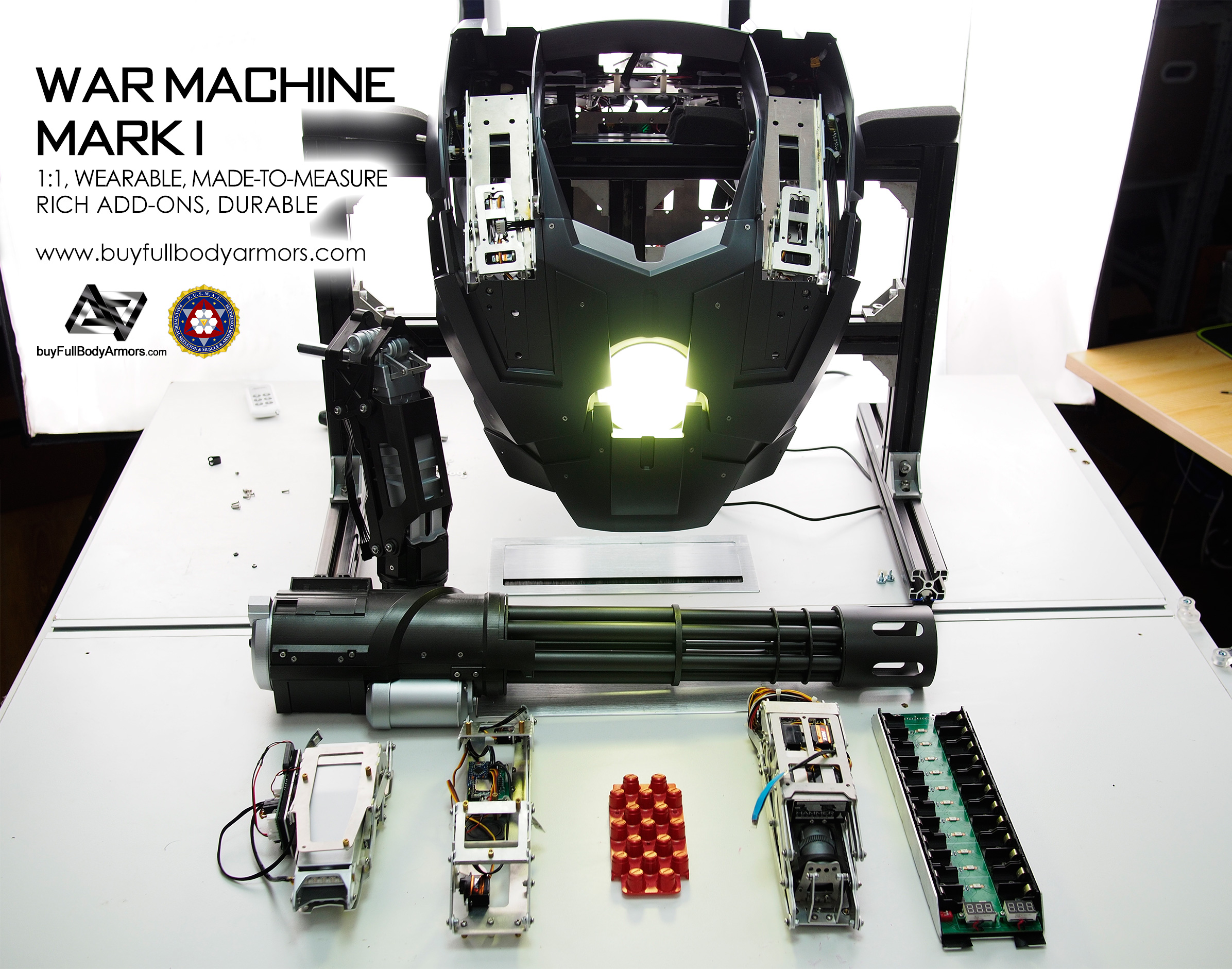 The Wearable War Machine Mark I Chest Add-ons