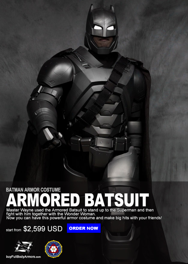 The Wearable Armored Batsuit Costume Suit