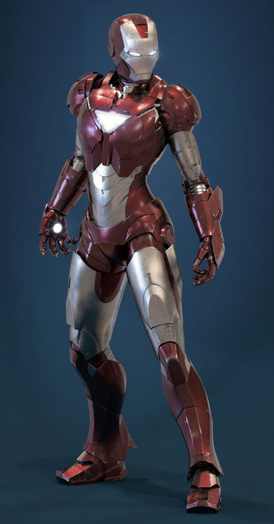 virtual design of the Iron Pepper Potts rescue armor suit